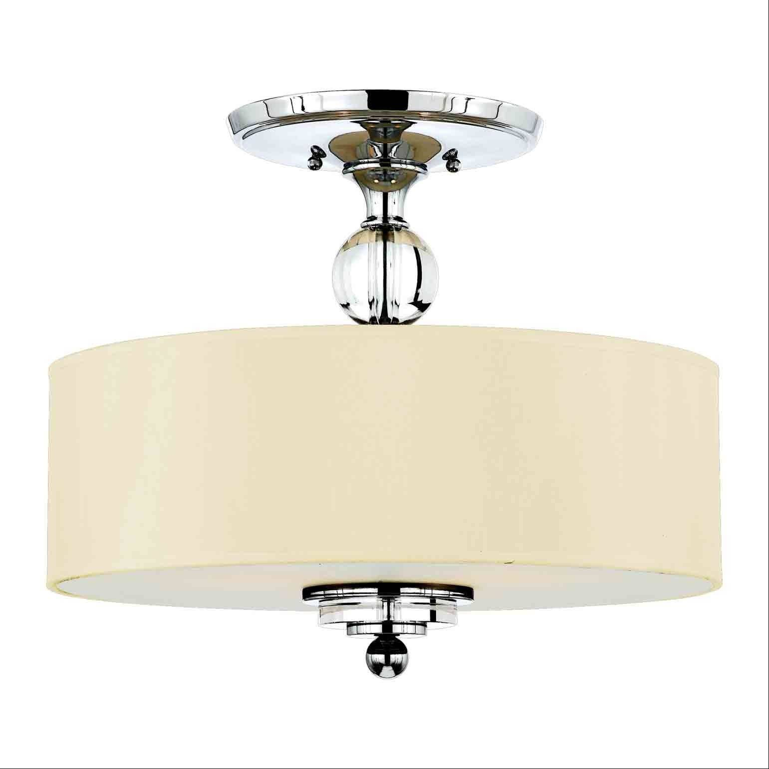 Semi-flush mount for the over the bedroom area, Quoizel Lighting Downtown Collection model DW1717C.