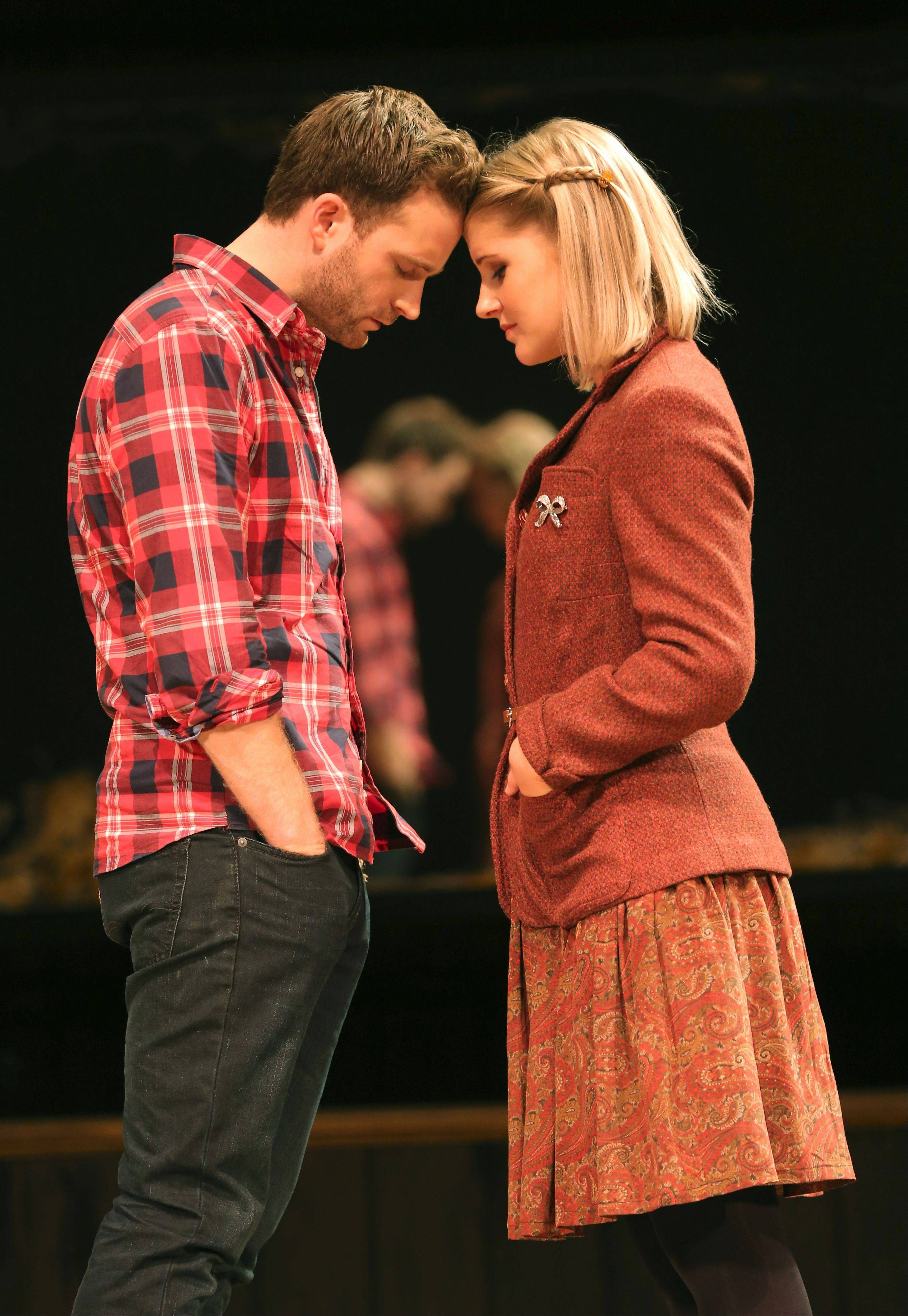 "Stuart Ward plays Guy and Dani de Waal plays the Girl in the national tour of the Broadway musical ""Once,"" which is based upon the 2006 indie film. The 2012 Tony Award-winning musical adaptation makes its Chicago debut at the Oriental Theatre through Sunday, Oct. 27."
