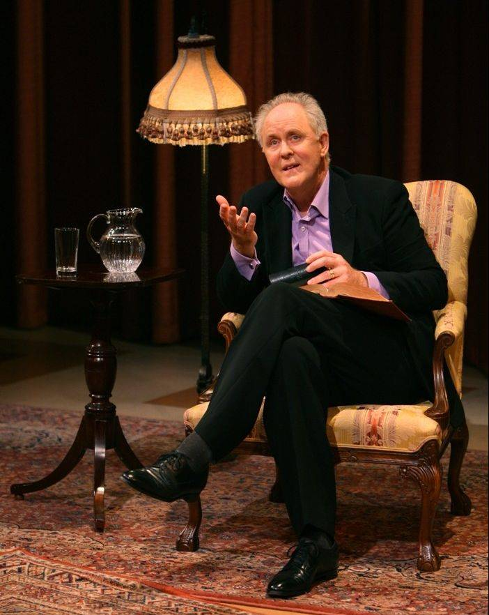"John Lithgow's critically acclaimed, one-man show, ""Stories by Heart,"" makes its Chicago-area debut Saturday, Nov. 2, at the Elgin Community College Arts Center."