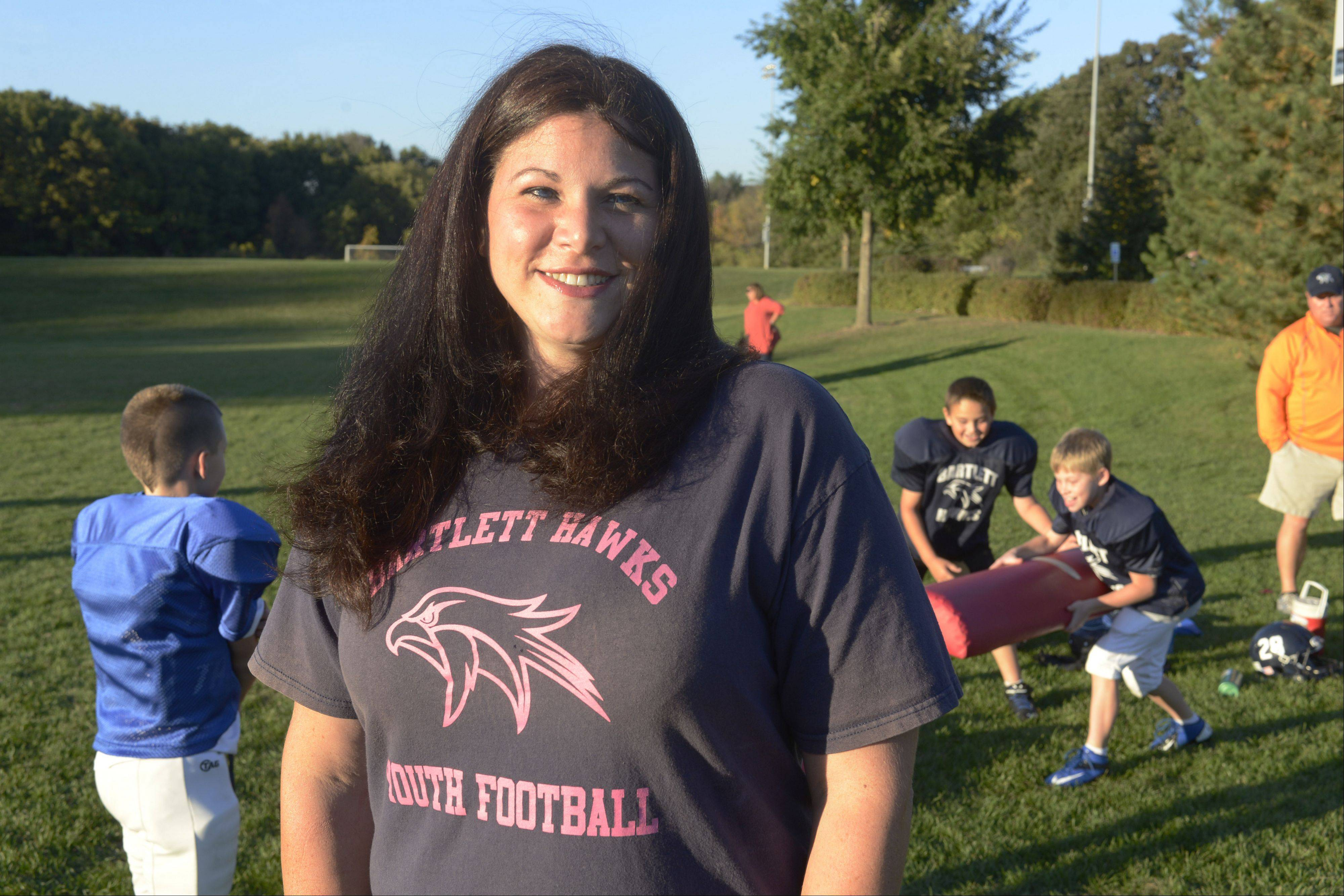 Jennifer Kmiecik of Bartlett became involved with the Bartlett Hawks in 2007. Since then, she's taken on many roles within the organization.