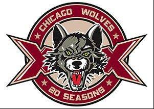 The Chicago Wolves will open their 20th season of professional hockey this year and commemorate it with a new logo as part of the year-long celebration.