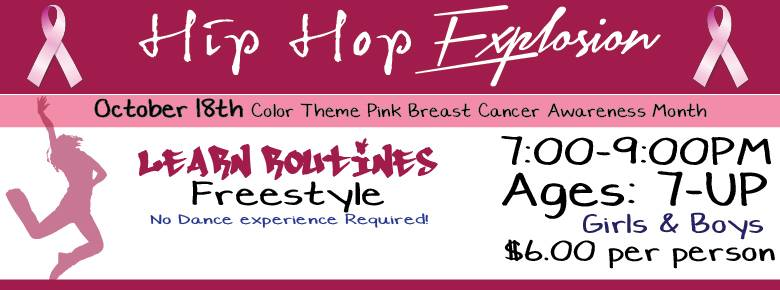 Hip Hop Explosion will be taking place in the Sage Gallery on October 18th from 7:00-9:00pm.