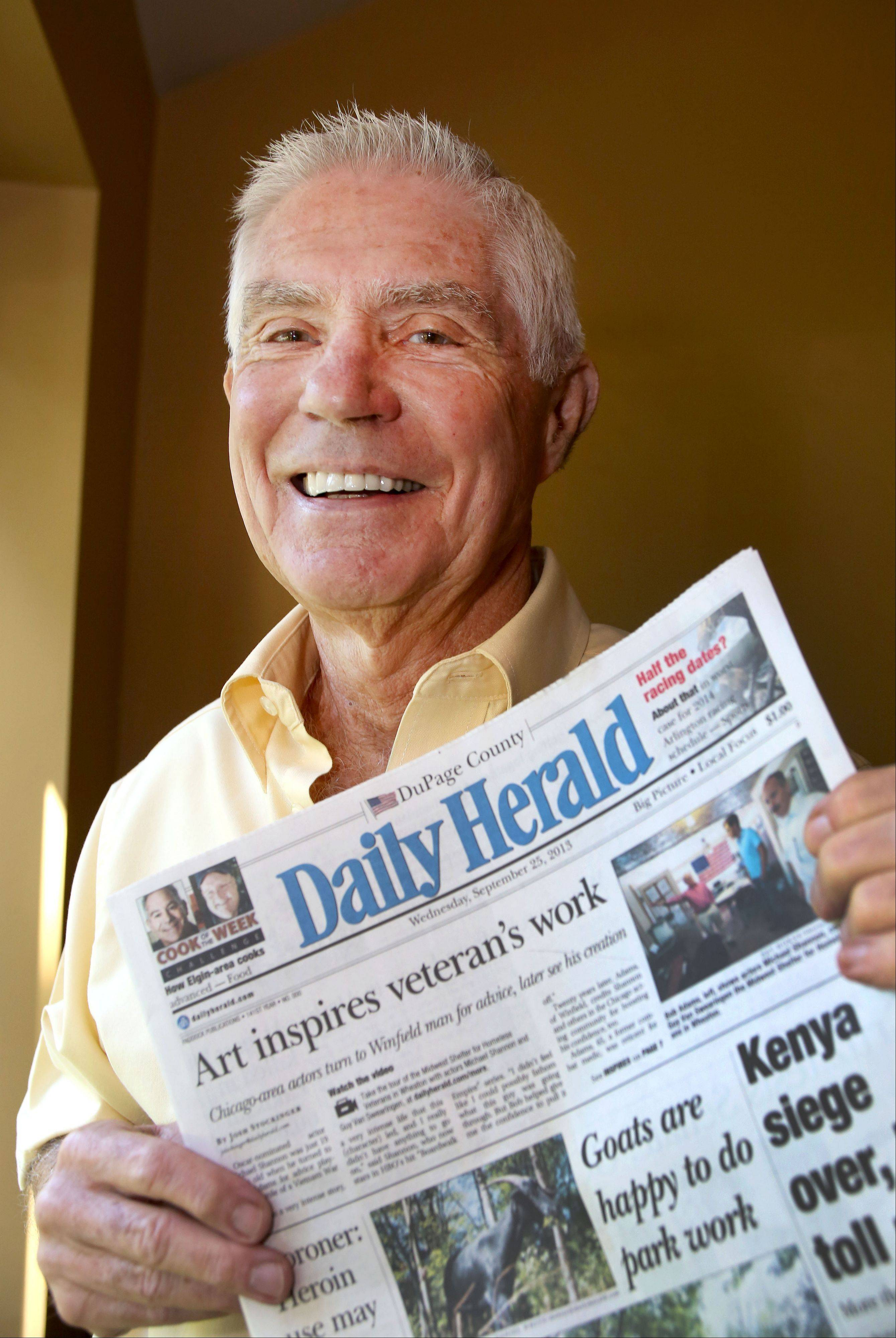 Jerry Meyer of West Chicago says he�s a big fan of daily newspapers.�I like to know what�s going on in the world and around town,� he says.