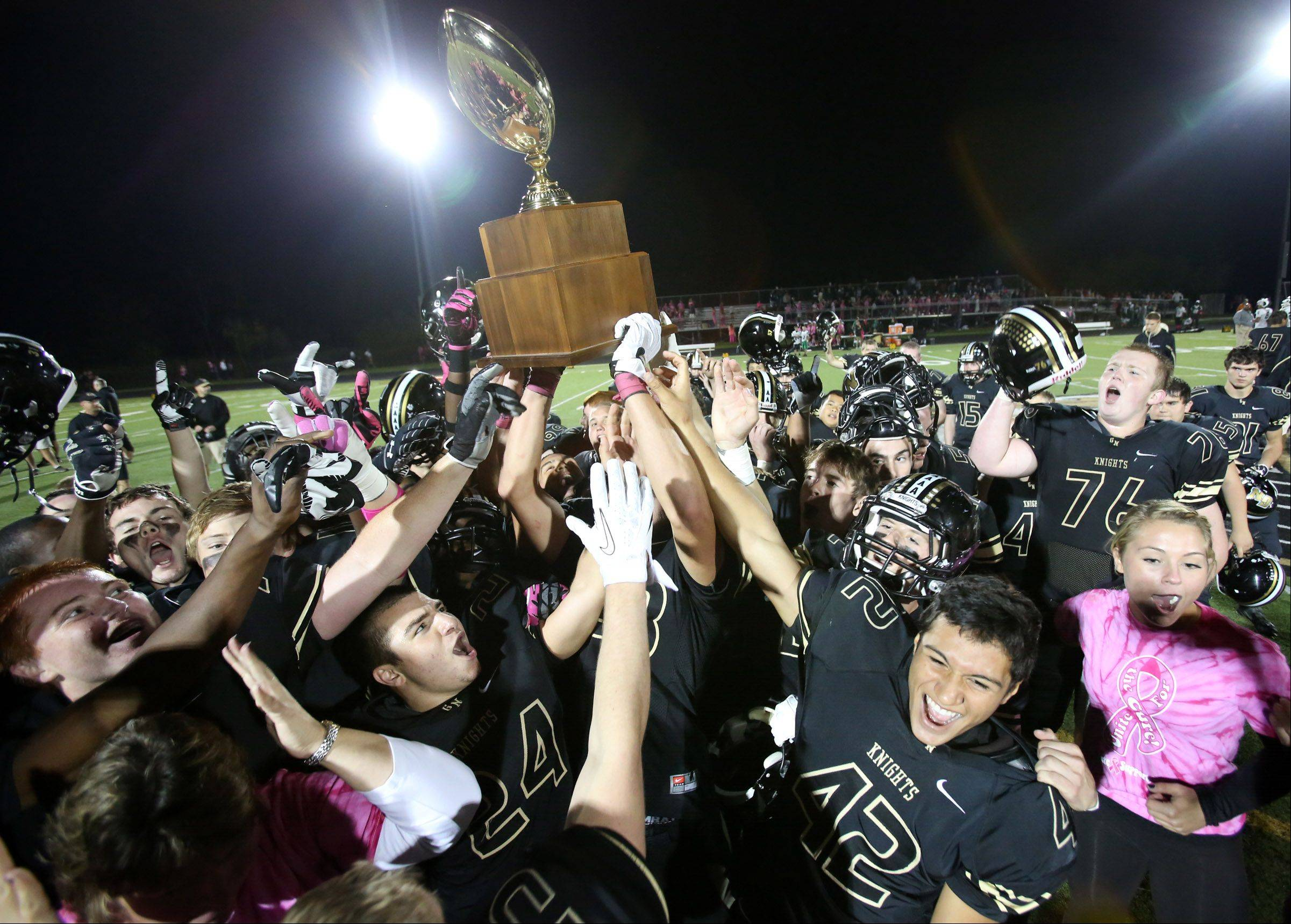Grayslake North won 24-21 against Grayslake Central retaining the Grayslake Community High School District 127 �Crosstown Classic� trophy .
