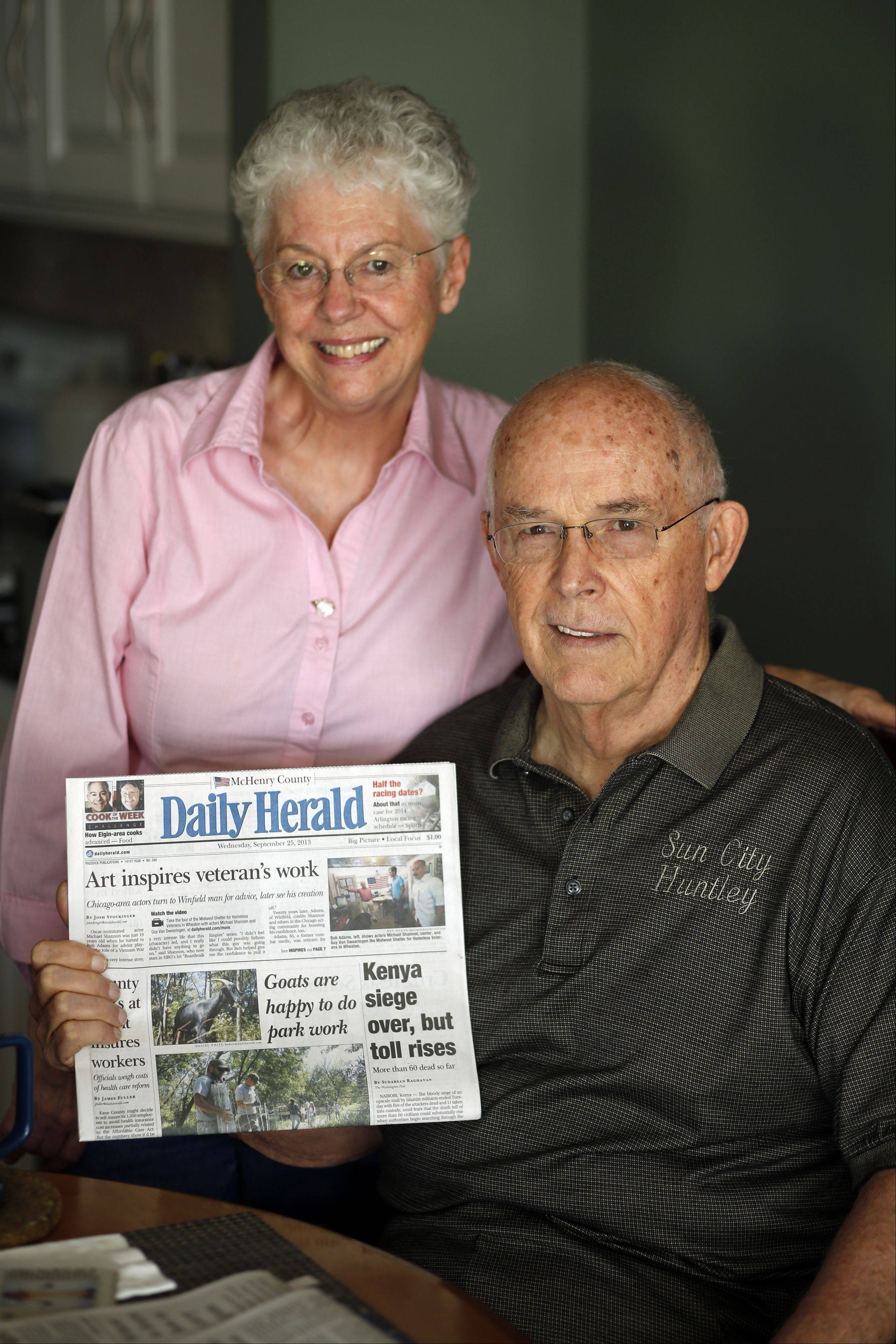 Brian Hill/bhill@dailyherald.comJames and Gloria Lunn, of Huntley, with their Daily Herald.