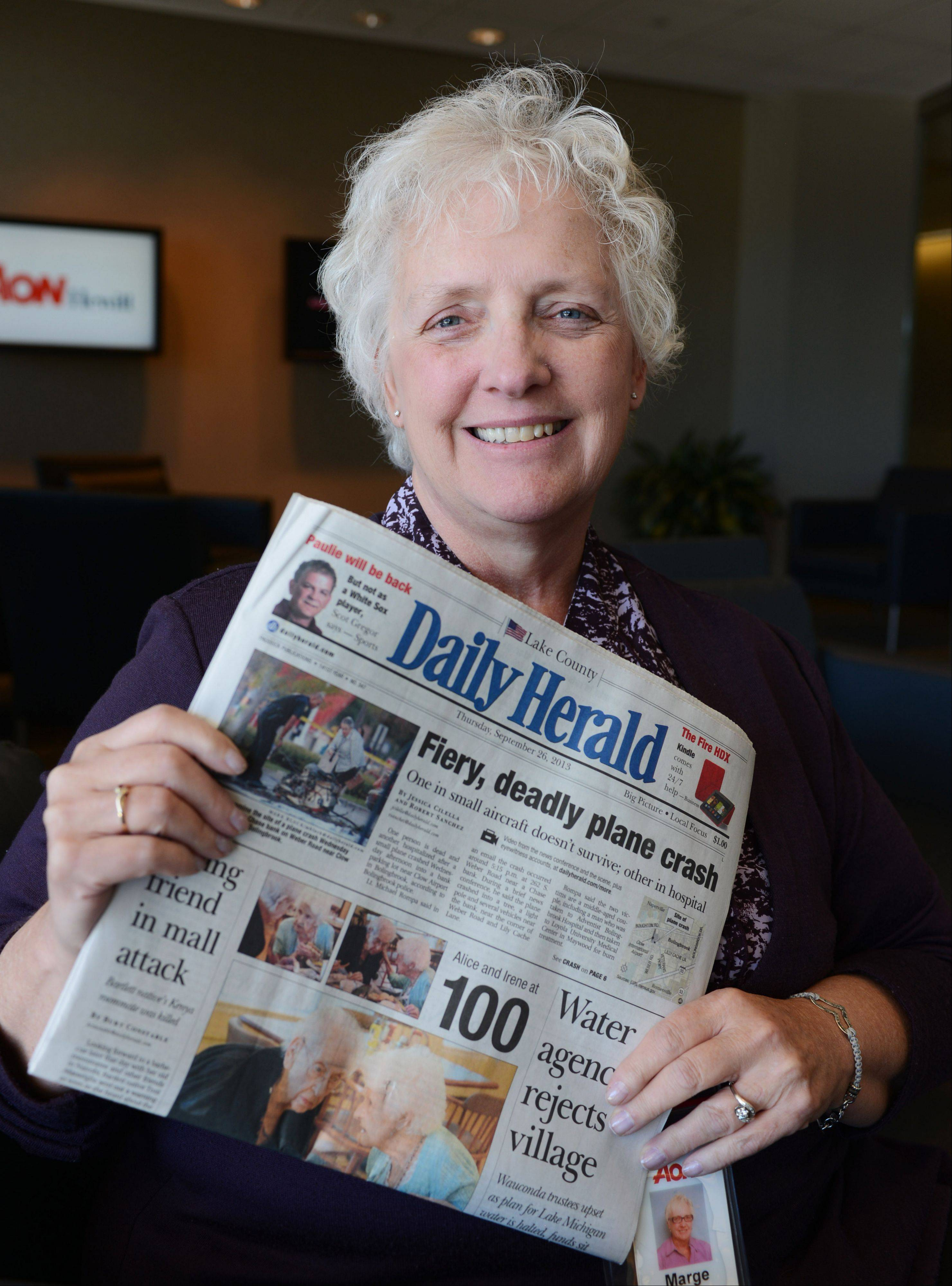 Margaret Burch of Des Plaines is a faithful Daily Herald reader.