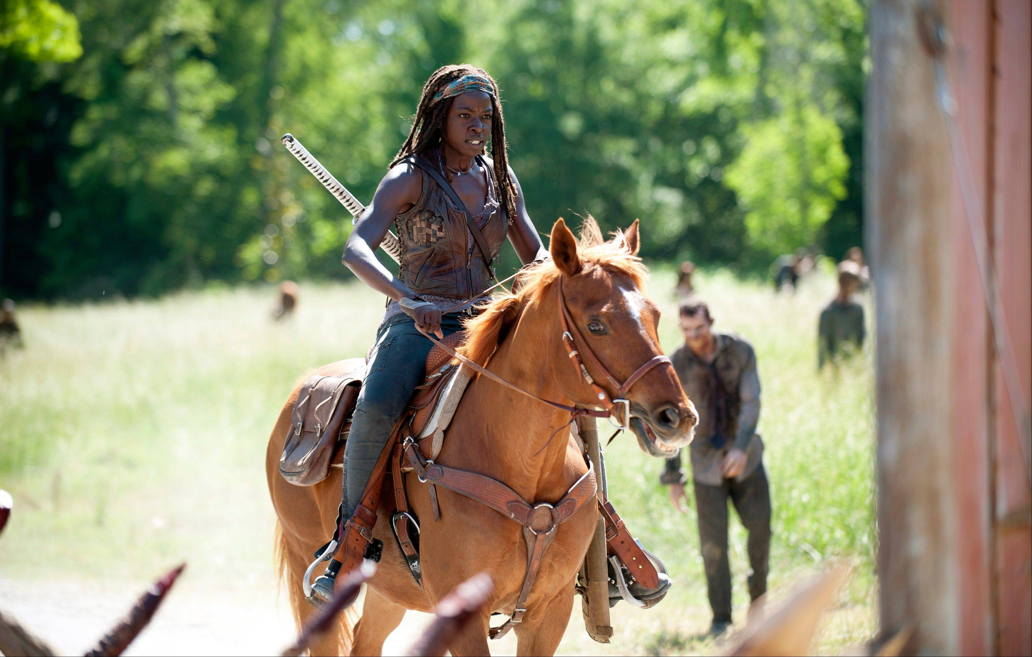 "What role will Michonne (Danai Gurira) play in the newest season of ""The Walking Dead,"" premiering Sunday, Oct. 13?"