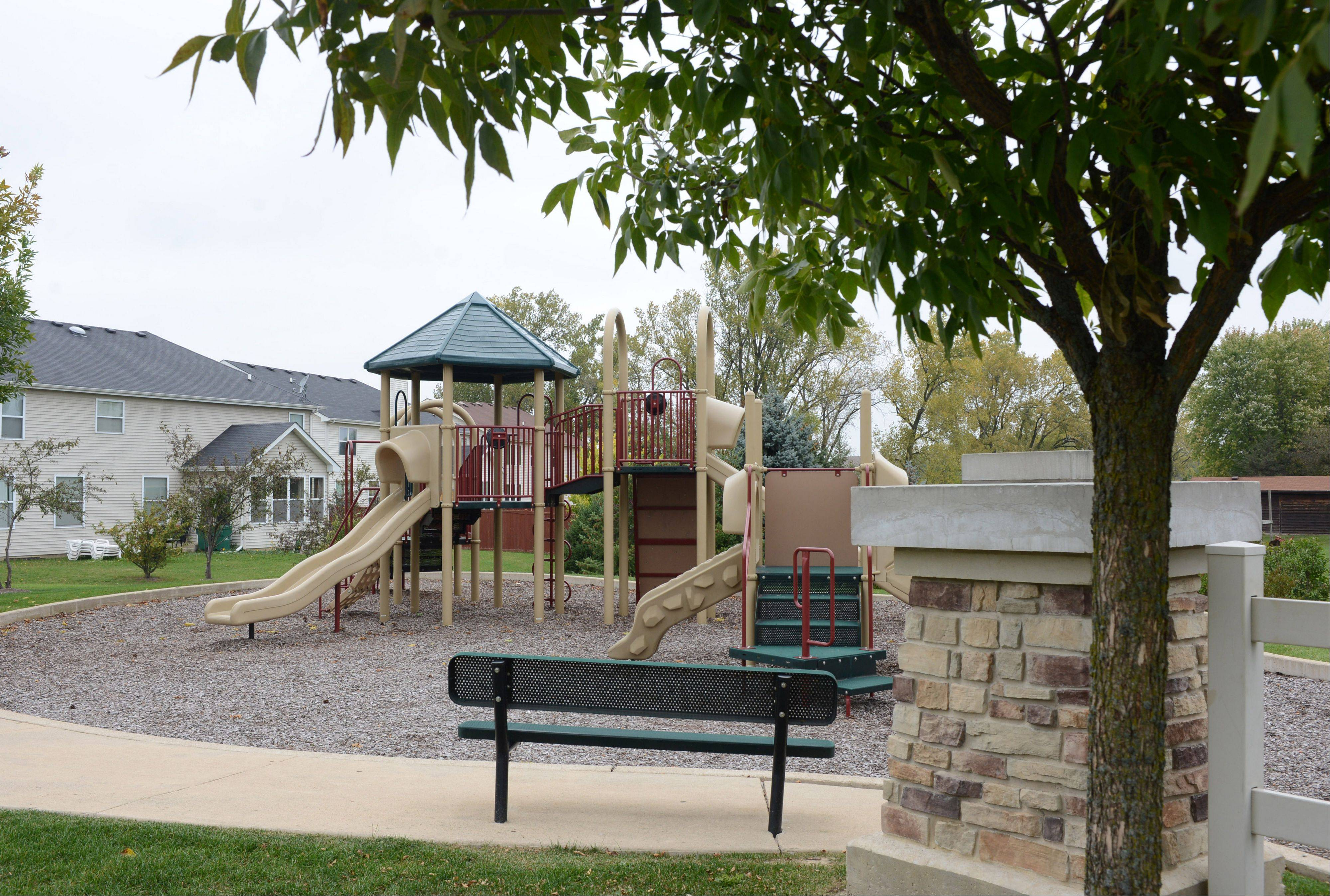 A small park for Cedar Ridge Estates residents in Lake Villa.