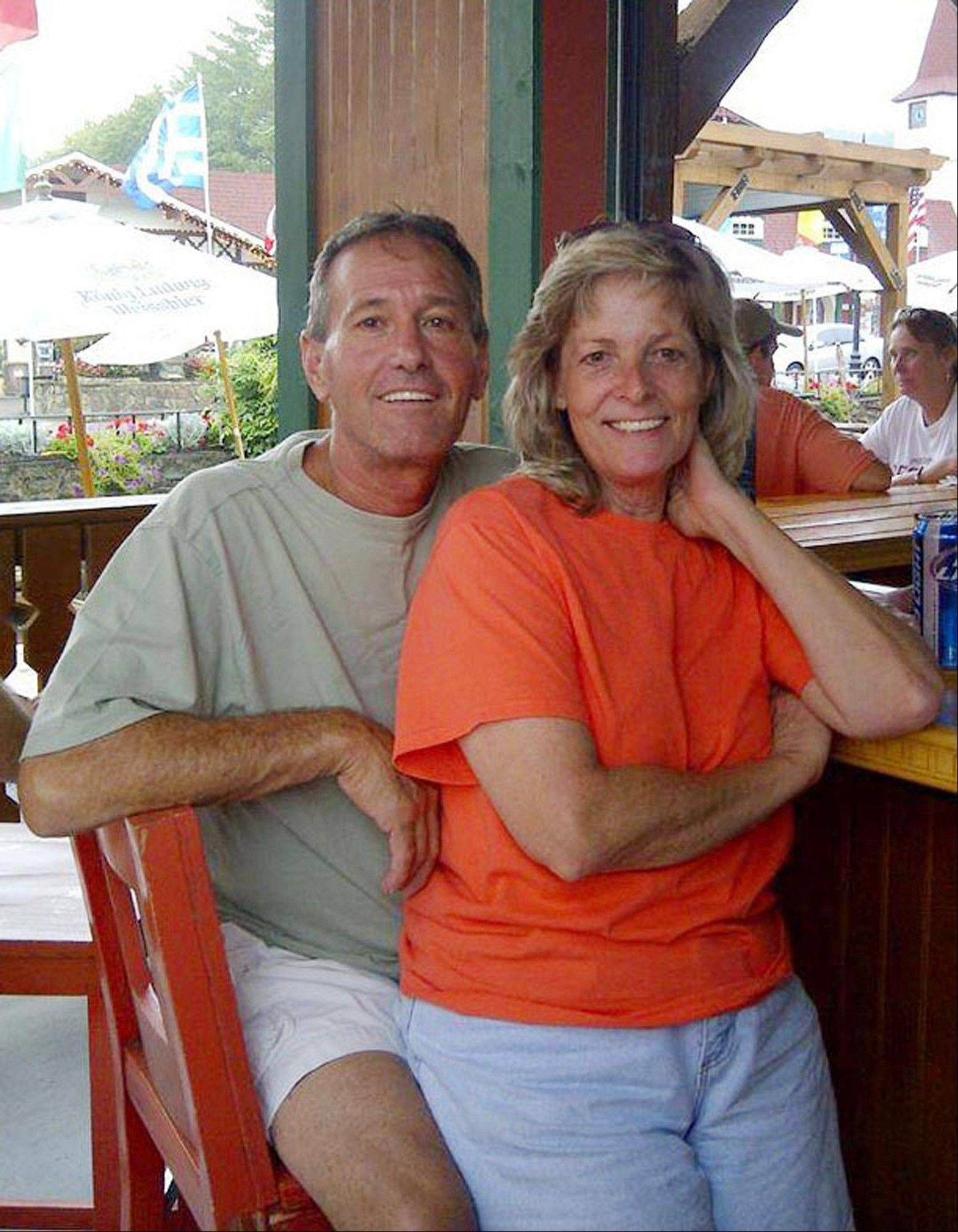 "Patty Konietzky and her husband Henry ""Butch"" Konietsky after a tubing trip in Helen, Ga. Butch died 60 hours after contracting the bacteria vibrio vulnificus. The couple went crabbing in the Halifax River near Ormond Beach in September 2013. Butch developed a sore which was later confirmed to be vibrio vulnificus."