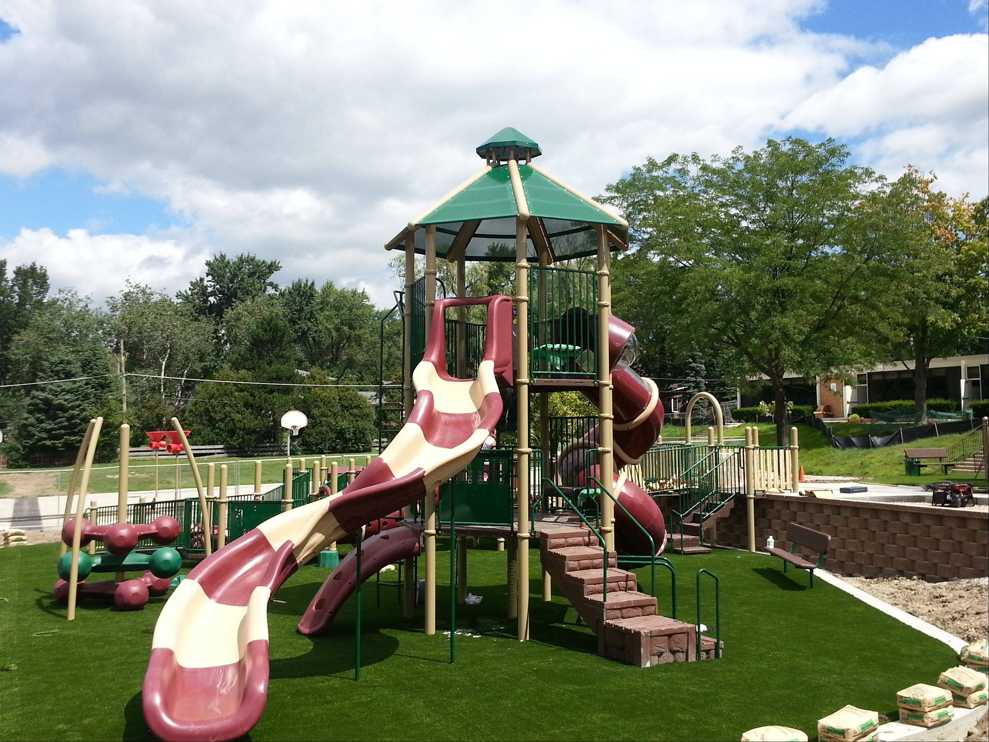 New playground equipment has been installed at Lincolnshire's Laura B. Sprague School.
