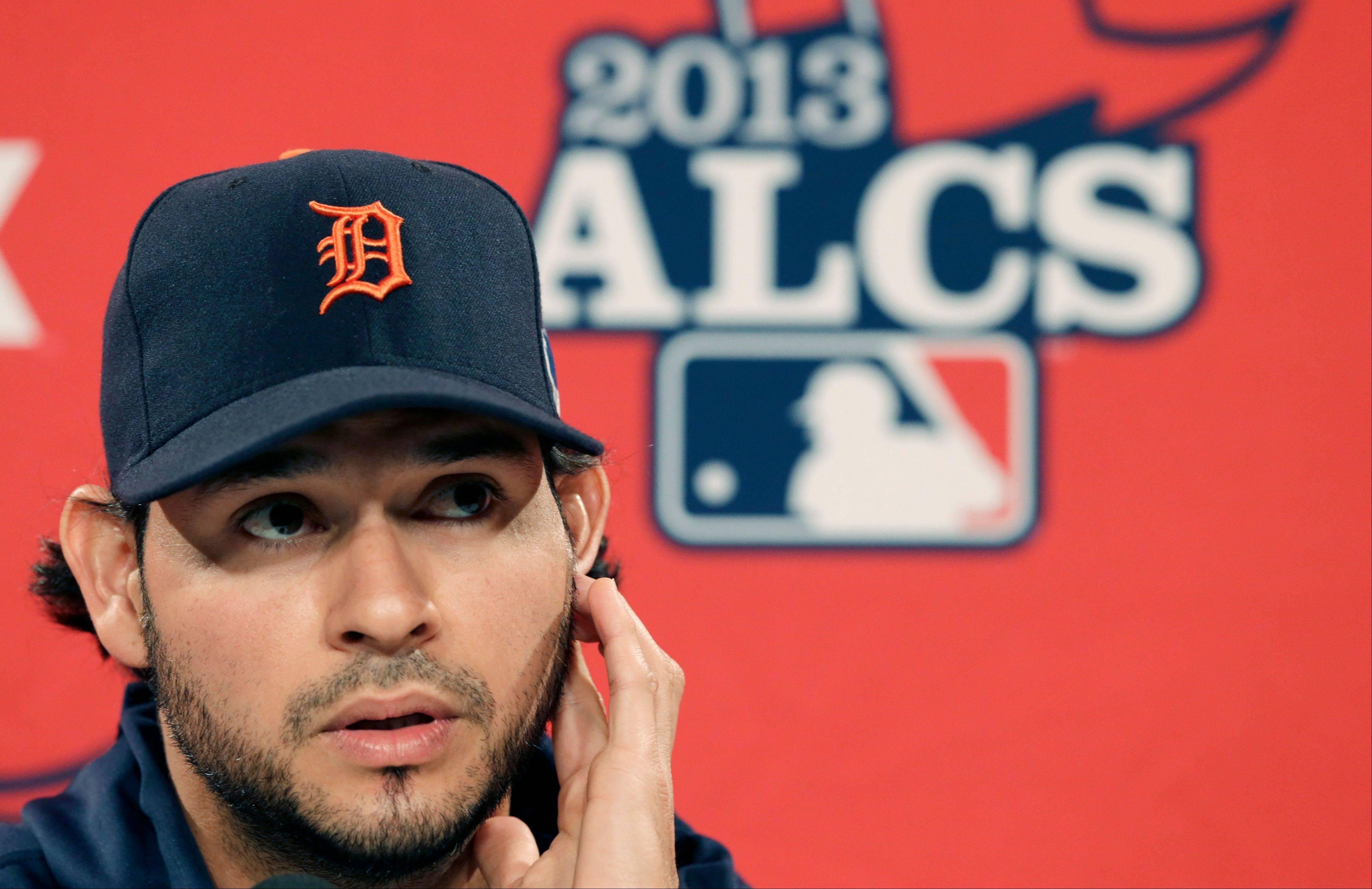 Detroit pitcher Anibal Sanchez, led the AL with a 2.57 ERA, will start in Game 1 of the ALCS against Boston on Saturday.