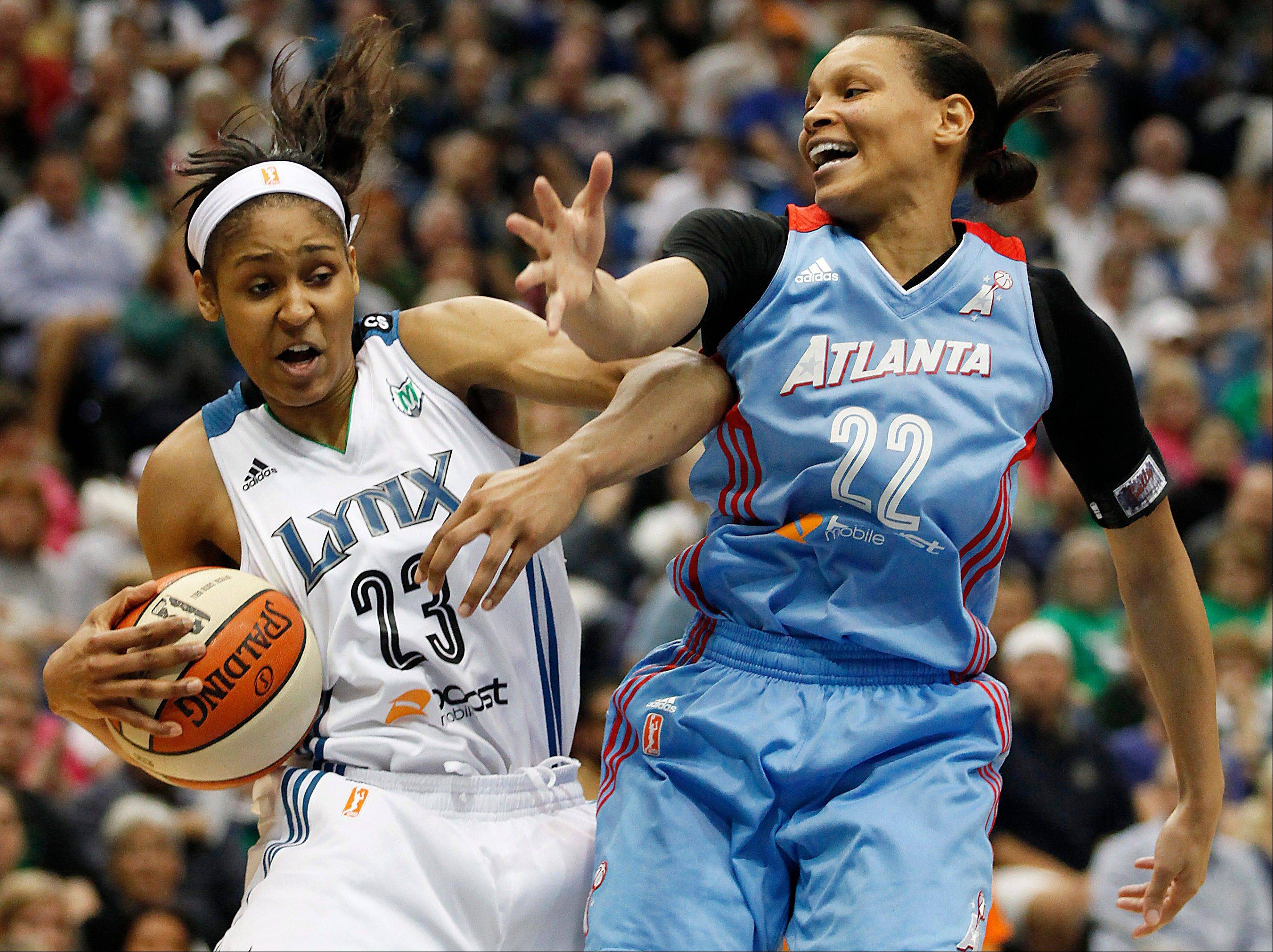 Minnesota Lynx forward Maya Moore (23) has the intensity and skills to will her team to victory in the WNBA playoffs. Moore was named the WNBA Finals MVP after leading her team to its second title in three years.