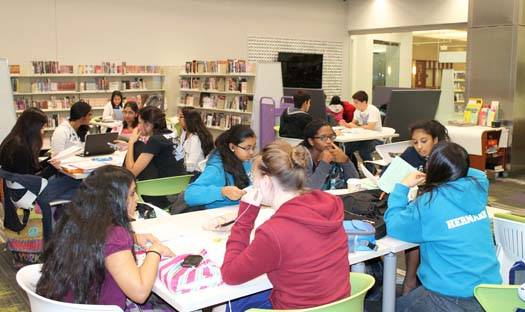 Teens study in the Schaumburg Township District Library's Teen Place, which won a Merit in Architecture Award on Oct. 10.
