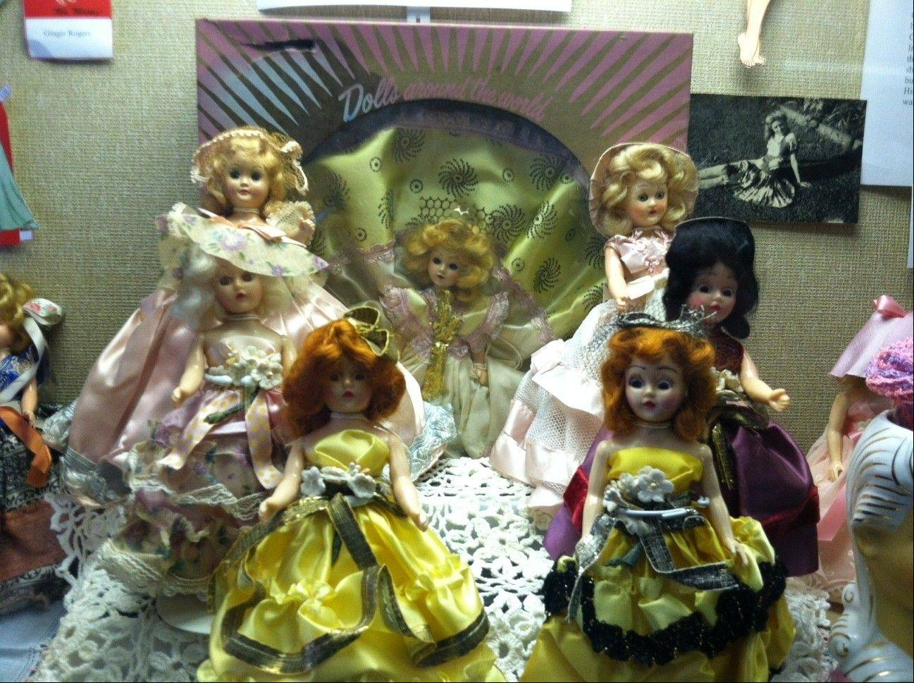 "Newly acquired to the collection, the Duchess Dolls make their debut in the new doll exhibit, ""Reflections on Fashion"" at the Arlington Heights Historical Museum."