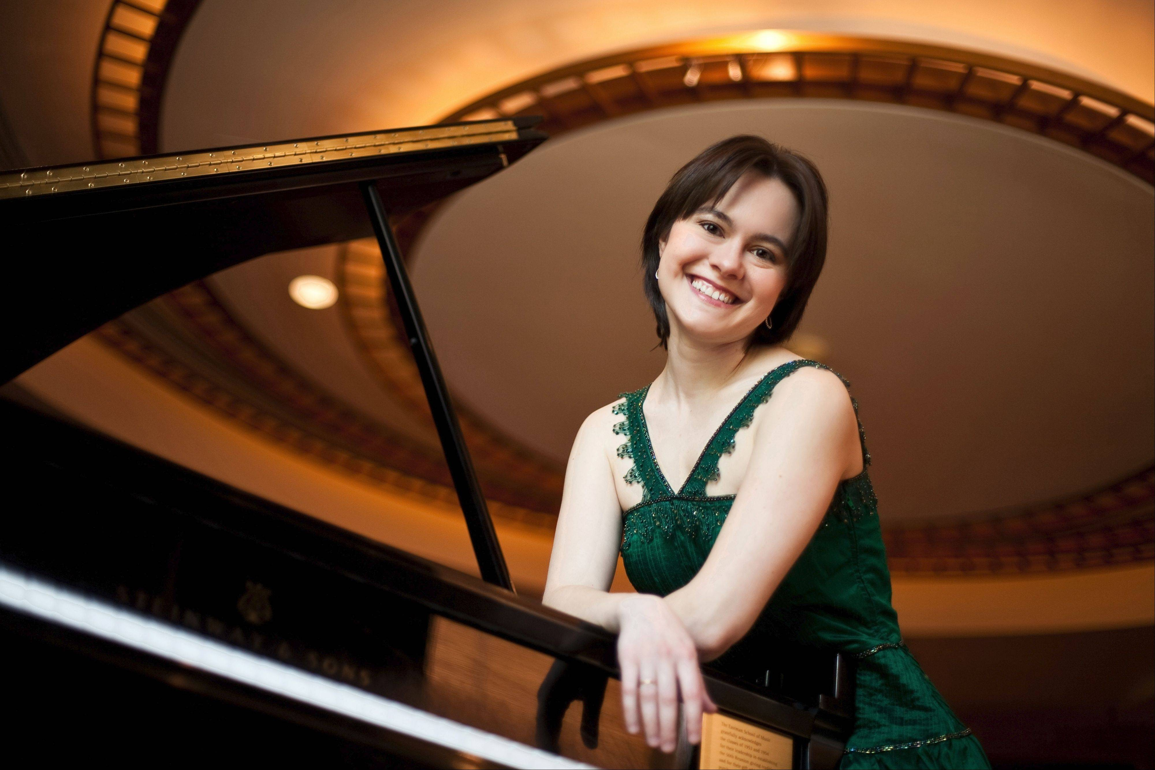 Pianist Daria Rabotkina performs with the DuPage Symphony Orchestra in Naperville on Saturday, Oct. 12.