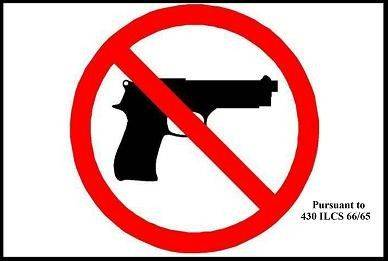 This is the logo businesses can post to indicate a concealed carry ban.