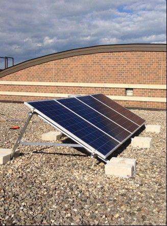 Solar panels have been installed at Aspen Elementary and other schools in Hawthorn Elementary District 73 as part of a grant program to teach students about renewable energy.