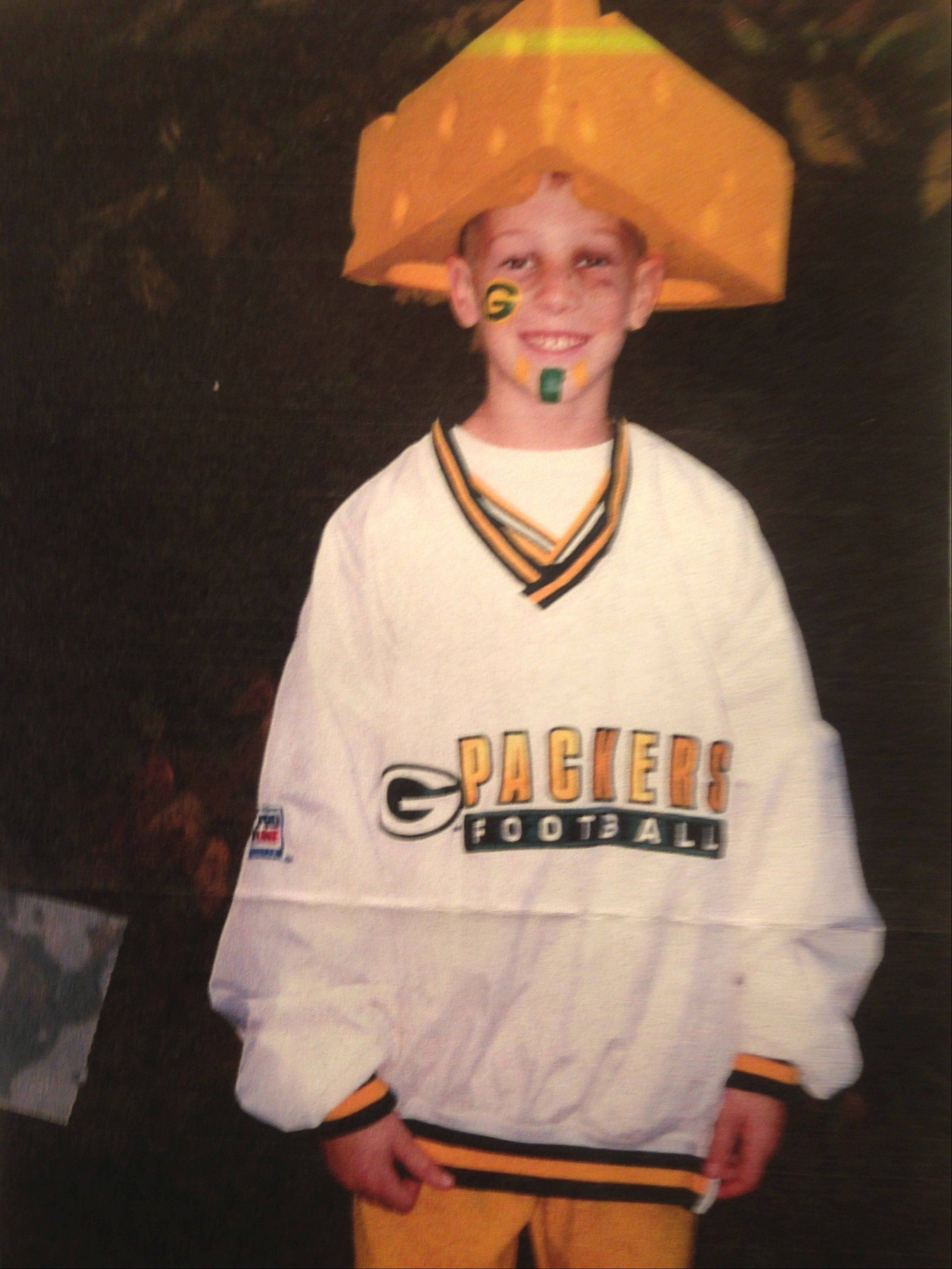 Photo courtesy of Scott TolzienAs a fifth-grade student, Scott Tolzien of Rolling Meadows spent one Halloween dressed as Packers fan. Now the former Fremd quarterback is on Green Bay's practice squad.