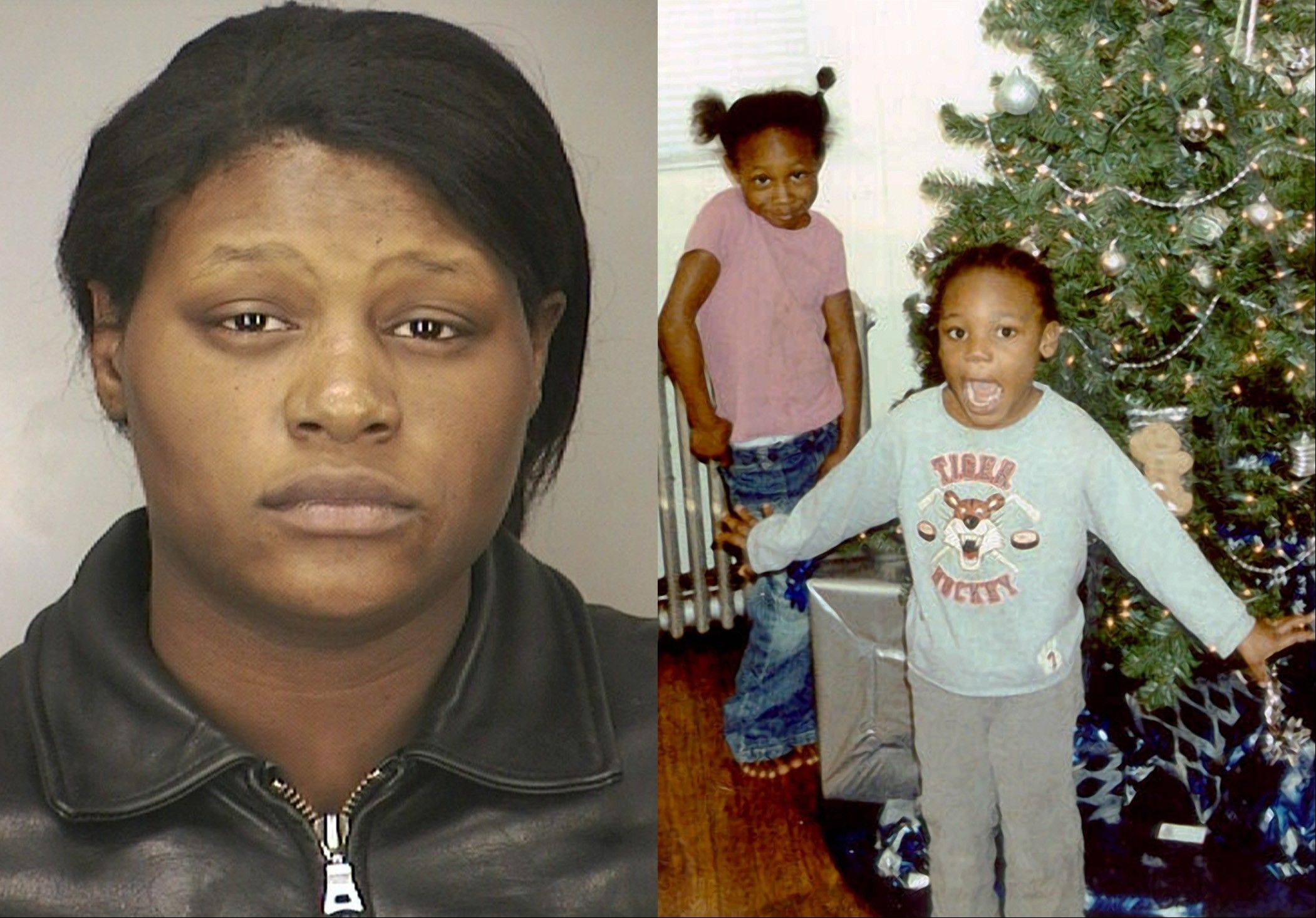 This combination of file photos provided by the Nassau County Police Department shows Leatrice Brewer in 2003, and two of her children, Jewell Ward, and Michael Demesyeux, right. Legal experts say the case of Brewer, who drowned her three children in a bathtub and is now seeking to cash in, could succeed because of a loophole. Since Leatrice Brewer was never convicted � instead found not guilty by reason of mental disease � legal experts say she could make a plausible case to receive some of her children�s $350,000 estate.