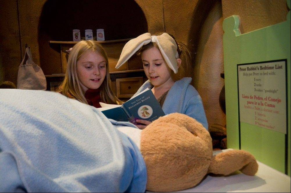 "A visit to Peter Rabbit's burrow is part of ""Storyland: A Trip Through Childhood Favorites"" at Kohl Children's Museum."