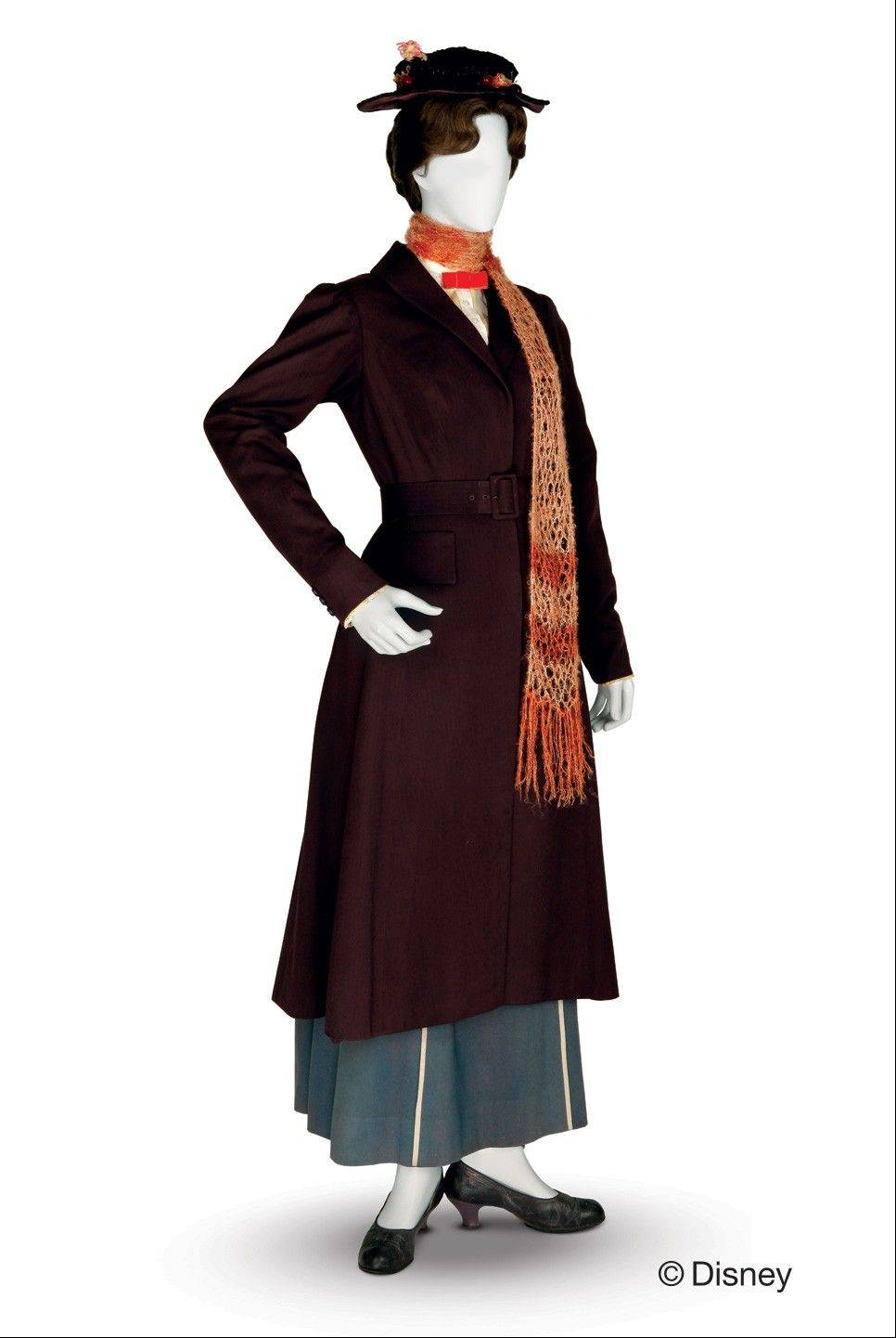 "A Tony Walton-designed costume worn by Julie Andrews in the 1964 film ""Mary Poppins"" is part of ""Treasures of the Walt Disney Archives"" at the Museum of Science and Industry in Chicago."