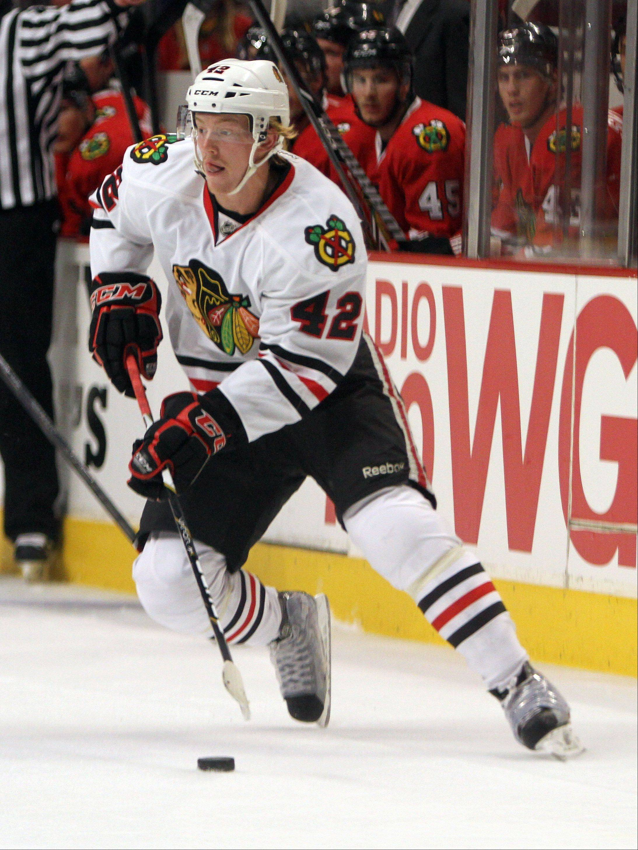 Joakim Nordstrom has been gaining momentum since winning a spot on the Blackhawks' roster during training camp.