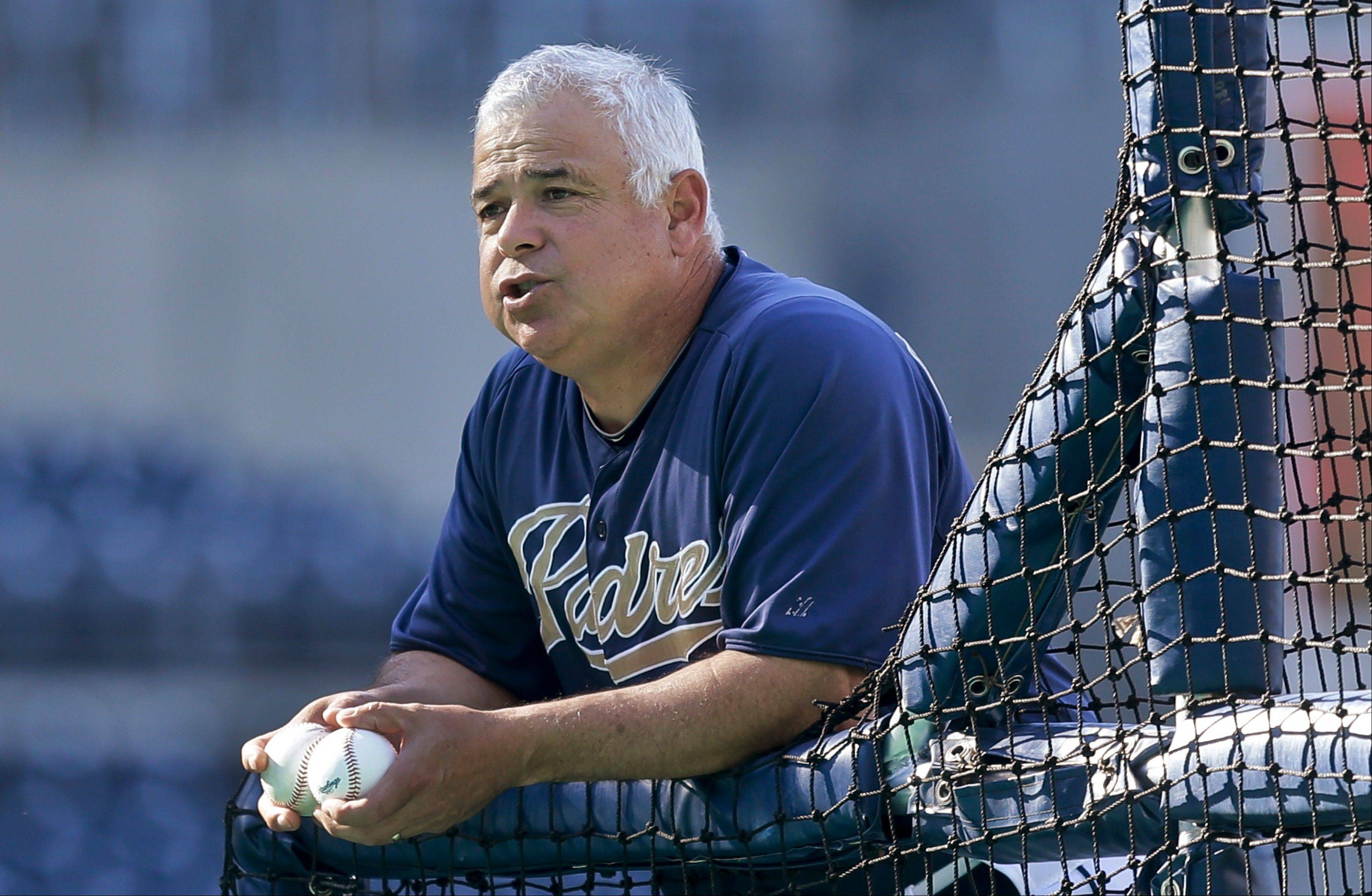 San Diego Padres bench coach Rick Renteria was interviewed Monday by Cubs brass about the managerial opening.
