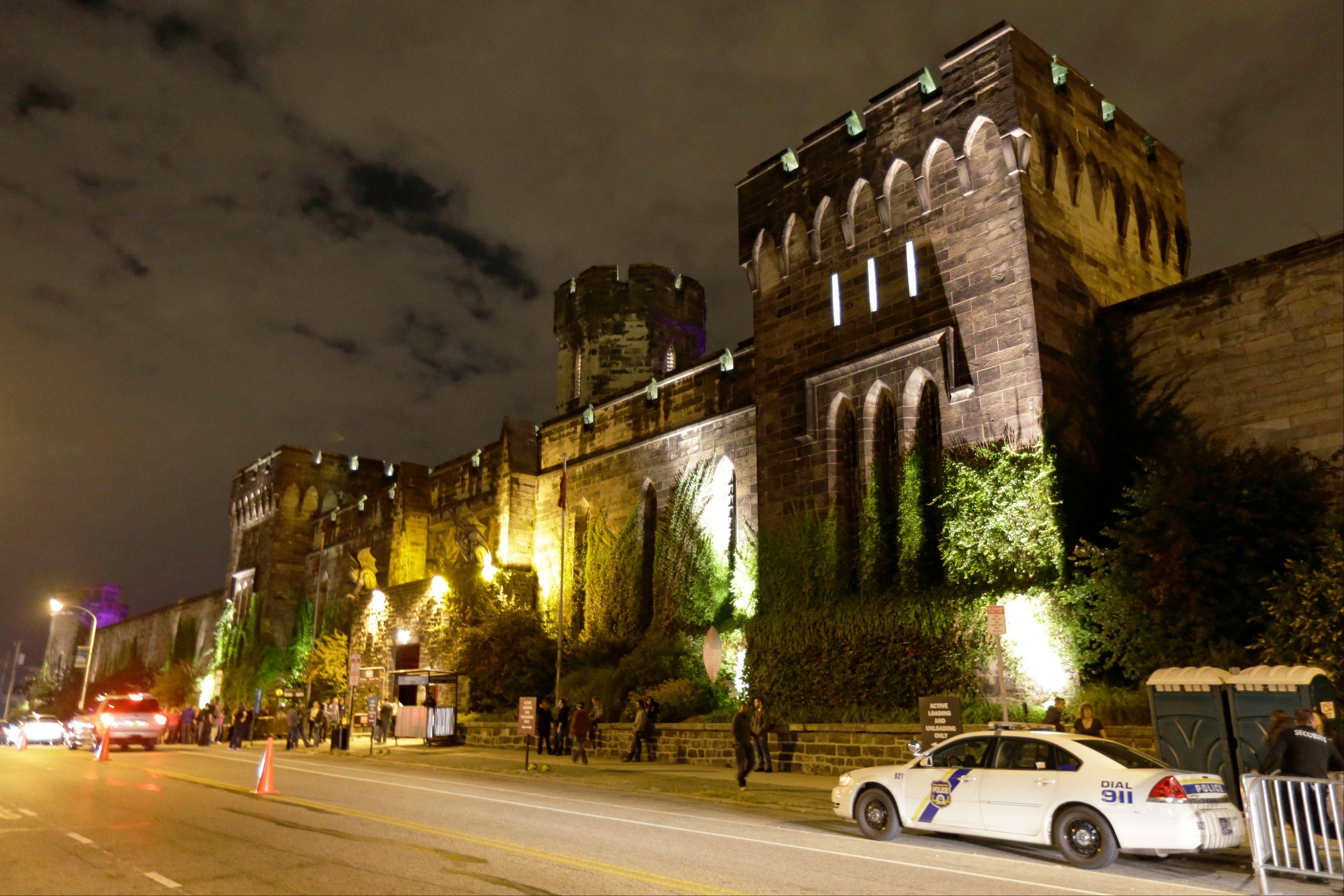 Eastern State Penitentiary in Philadelphia is illuminated for its Halloween haunted house, Terror Behind the Walls. The penitentiary took in its first inmate in 1829, closed in 1971 and reopened as a museum in 1994. The haunted house is scheduled to run through Nov. 9.