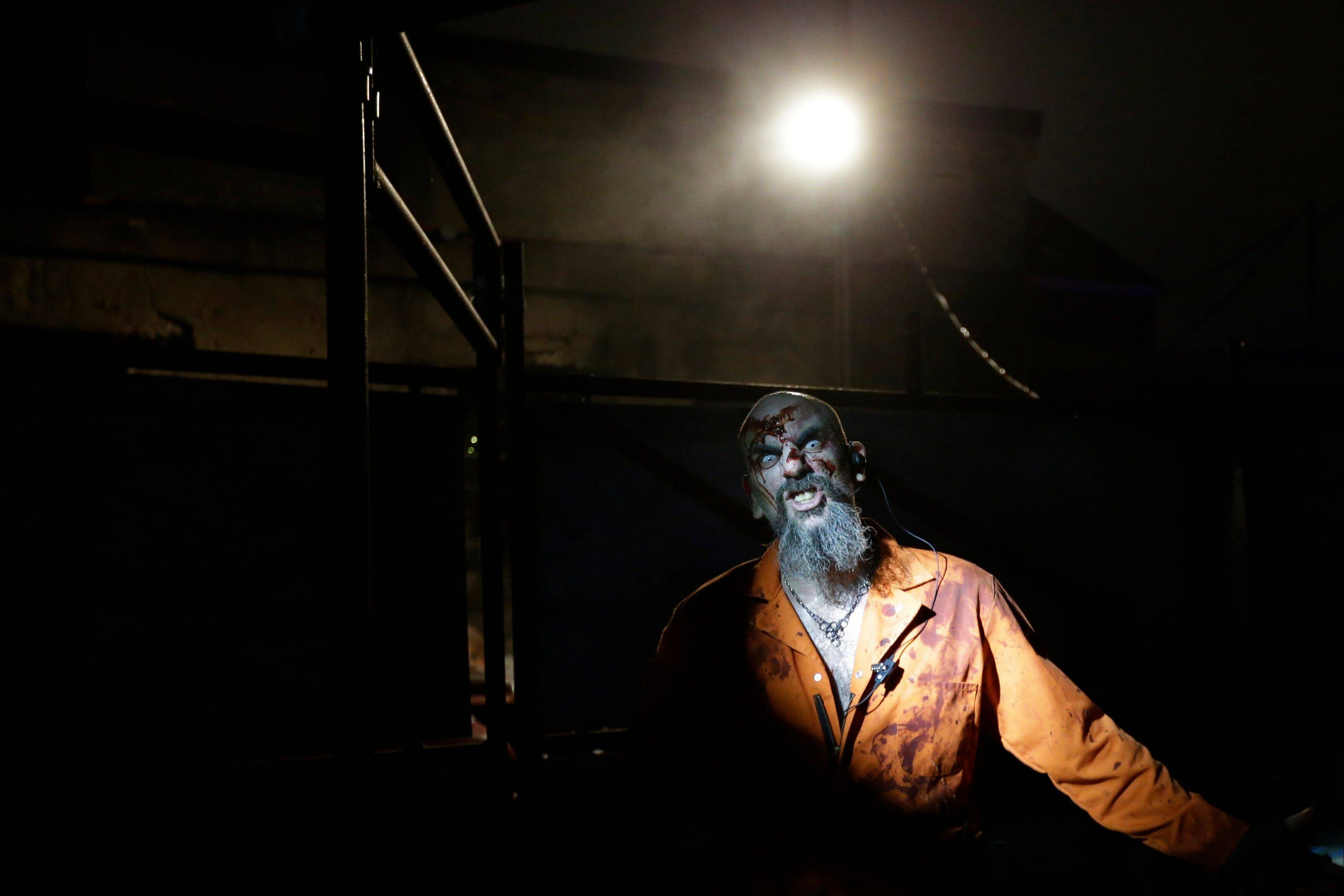 A zombie inmate brings some scares to Terror Behind the Walls at Eastern State Penitentiary.
