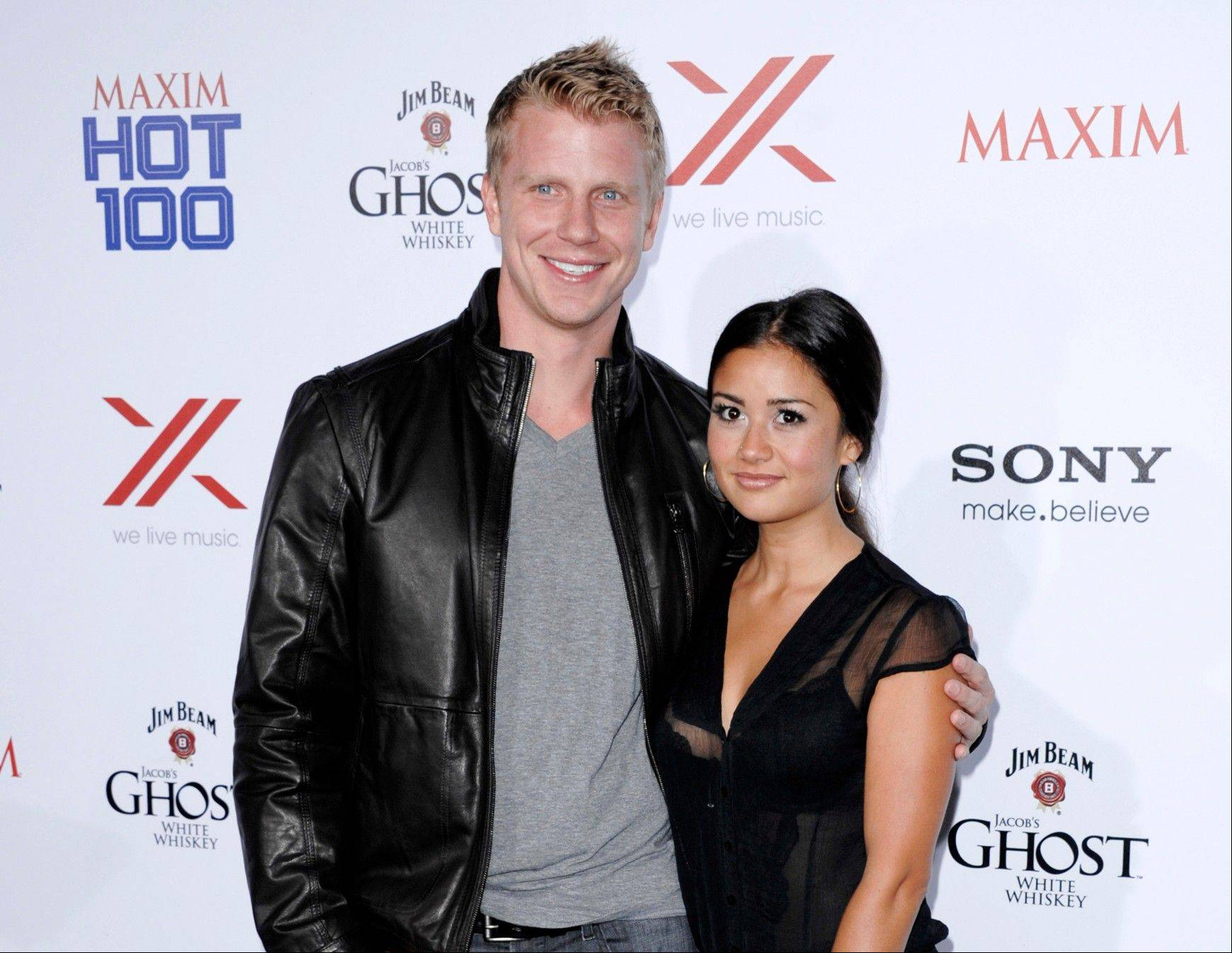 "This May 15, 2013 file photo shows TV personalities Sean Lowe, left, and Catherine Giudici from ""The Bachelor,"" at the 2013 Maxim Hot 100 celebration in Los Angeles. Lowe and Giudici will marry live on ABC on Jan. 26. They made the announcement Monday on ""Good Morning America."" Lowe was named the franchiseís 17th bachelor. ""The Bachelor: Sean and Catherine's Wedding"" will be hosted by Chris Harrison."