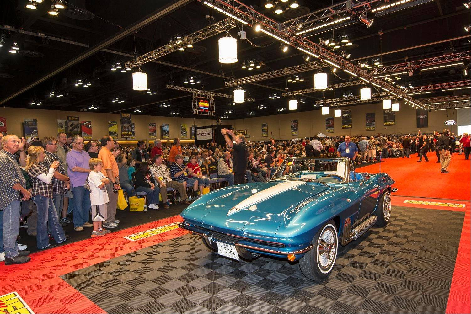 The 1963 Chevrolet Corvette presented by General Motors to lead designer Harley J. Earl sold for $1.5 million.