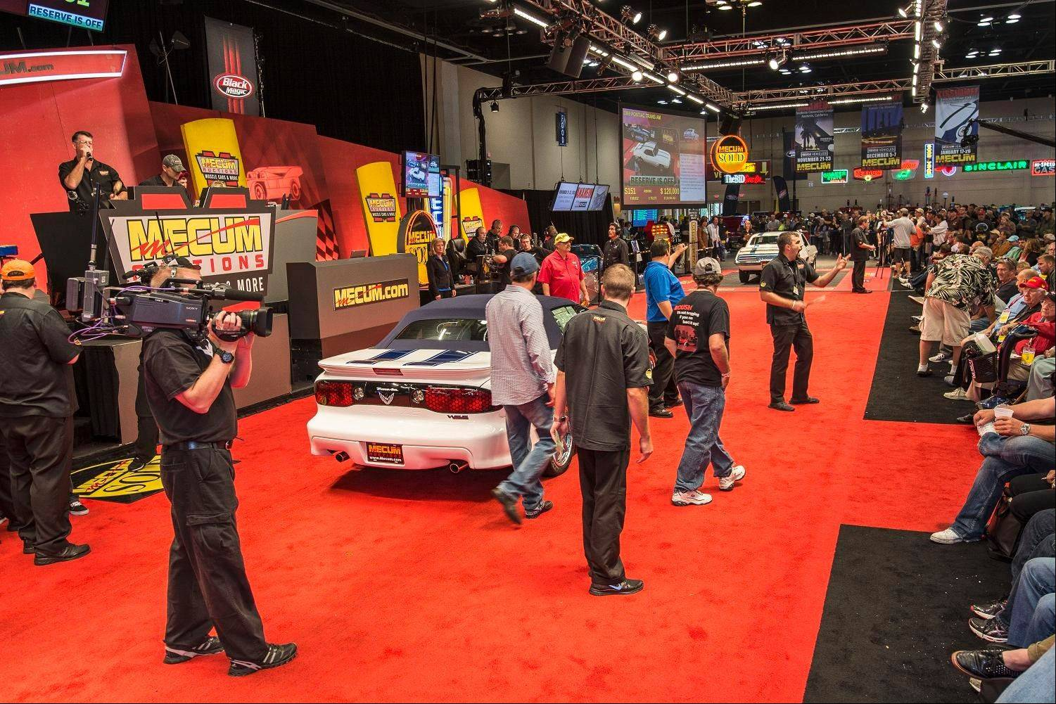 The action was fast paced when Mecum Auctions came to the Schaumburg Convention Center.