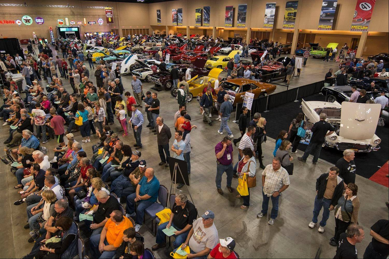 Thousands of people attended the auction at the Schaumburg Convention Center.