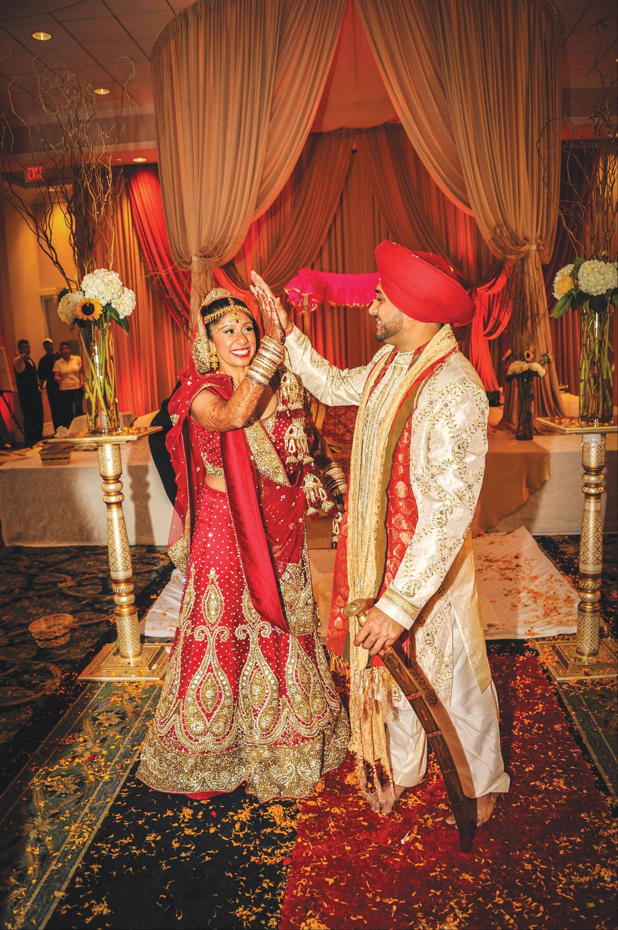 Chef Suzy Singh and her husband, Palatine native Amit Wadehra, met through an online dating service, but returned to their East Asian roots in planning their wedding.