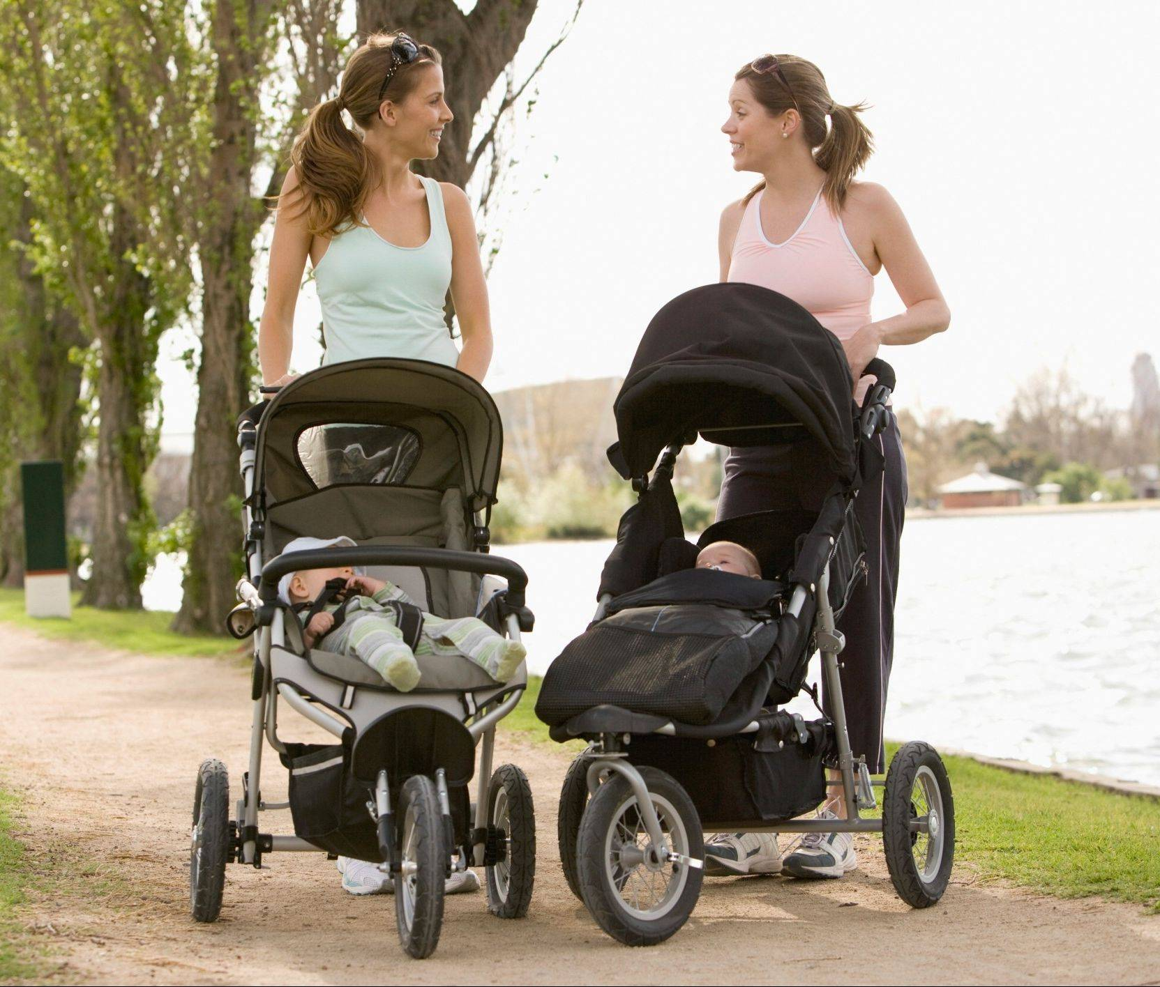 Some workout classes allow moms the ease of keeping their baby with them during exercise routines, such as walking or running with strollers.