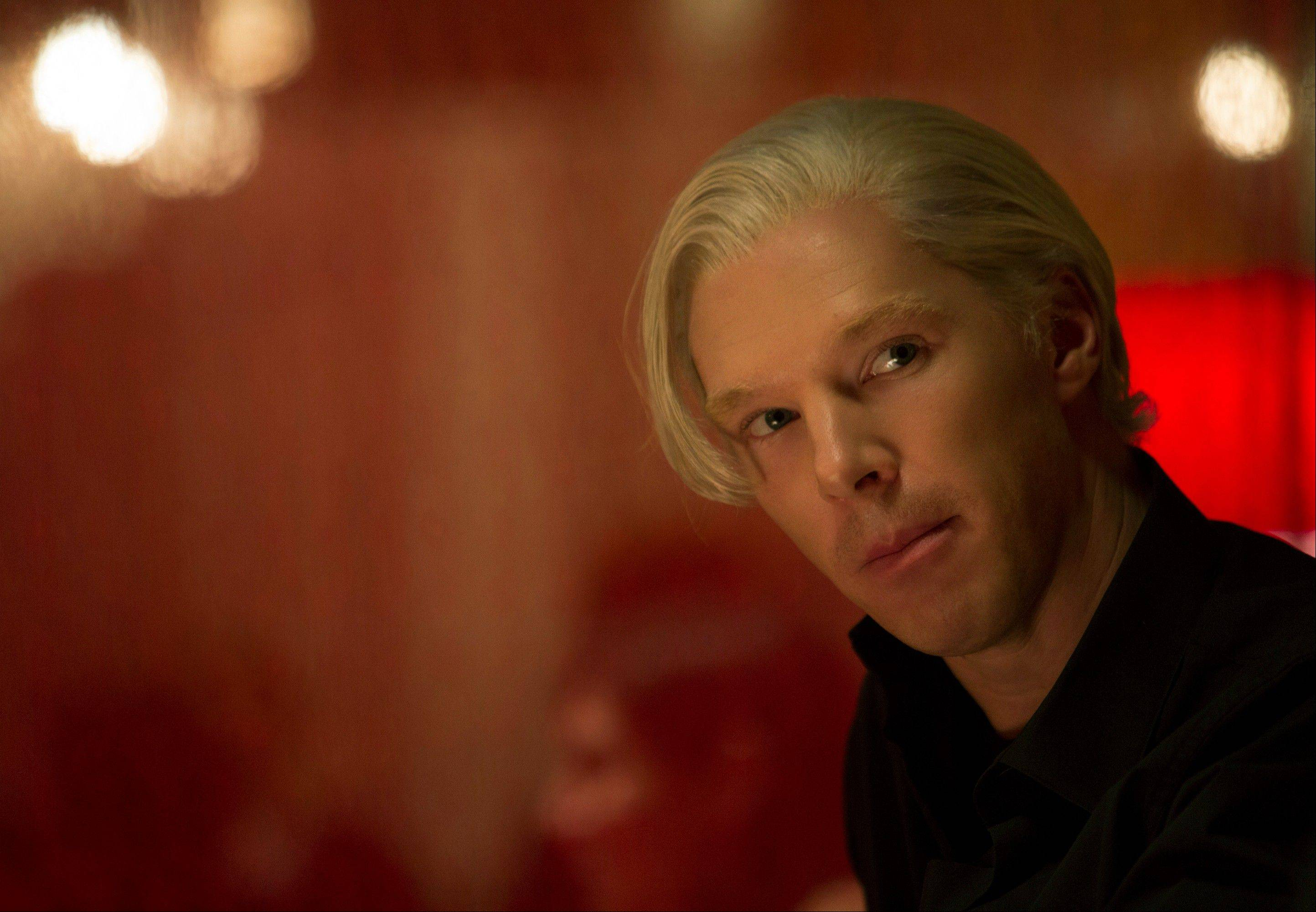 "Benedict Cumberbatch plays WikiLeaks founder Julian Assange in a scene from ""The Fifth Estate."""