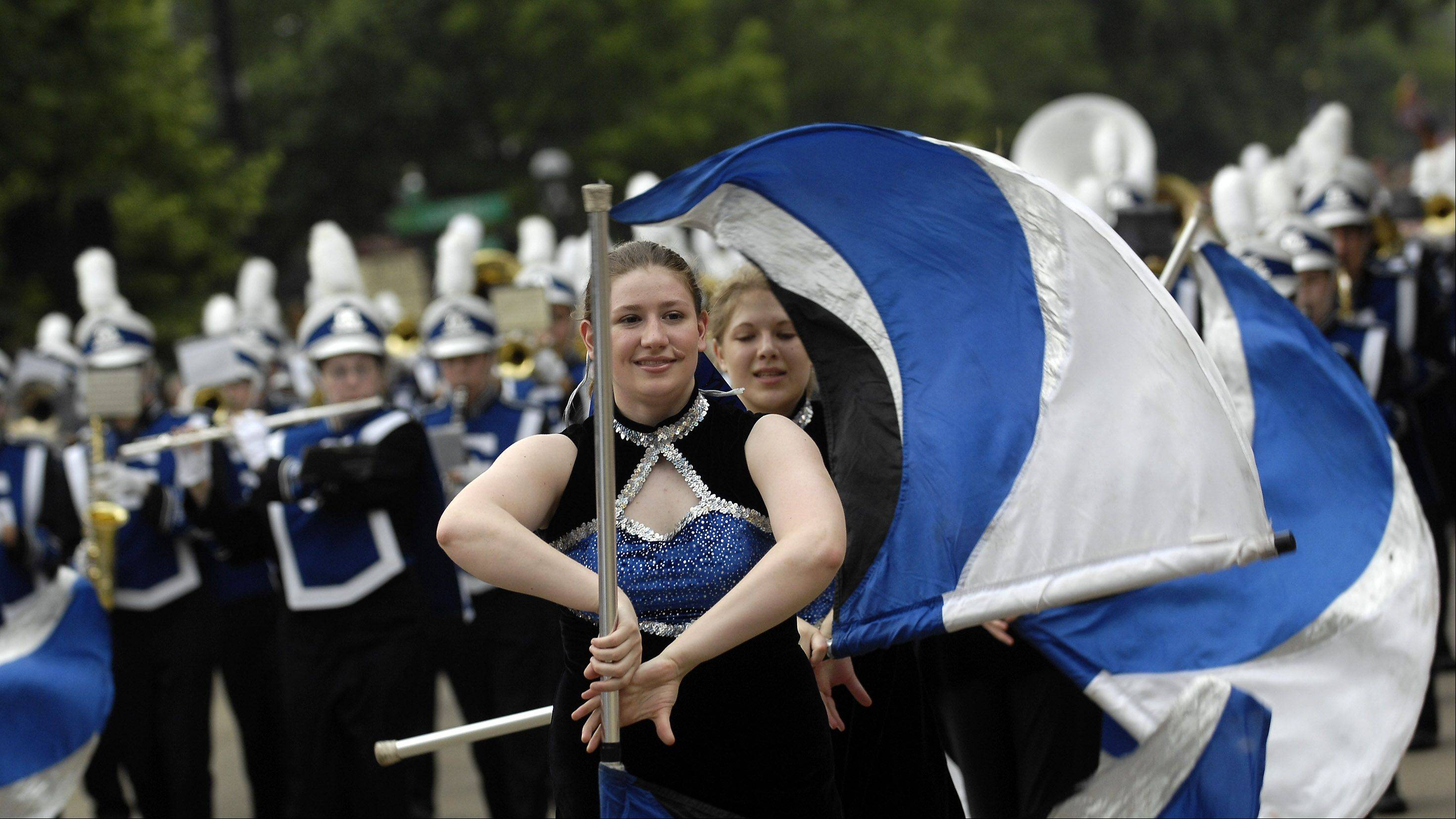 New uniforms for the Geneva High School marching band will be discussed Tuesday by the school board finance committee.