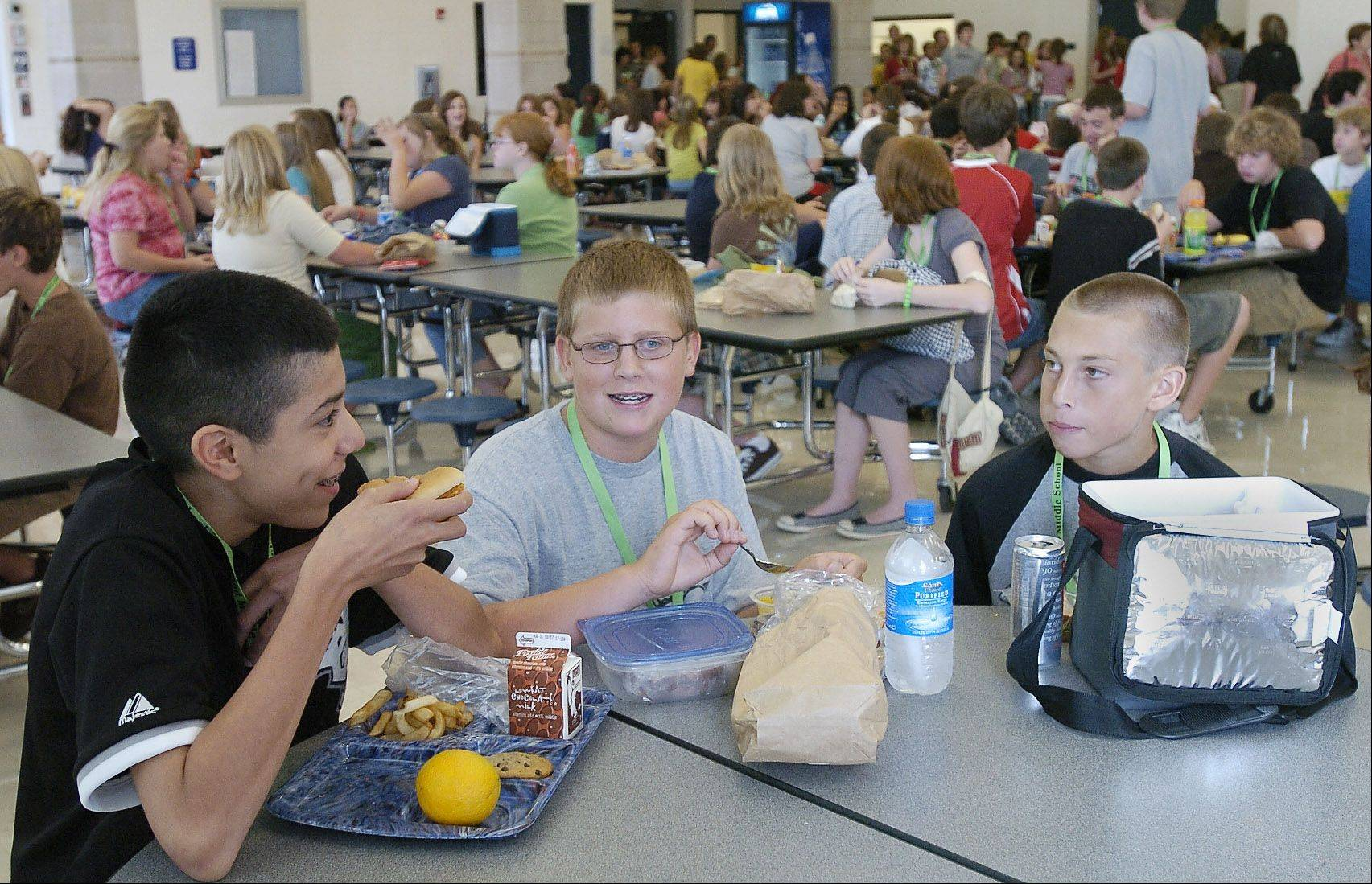 Kaneland school officials are considering whether to start a hot lunch program in all of its elementary schools.