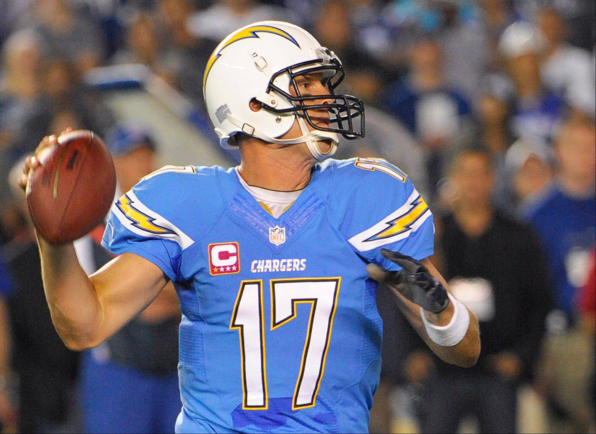 San Diego Chargers quarterback Philip Rivers was 22 of 33 for 237 yards and no interceptions in Monday's home win over the Colts.