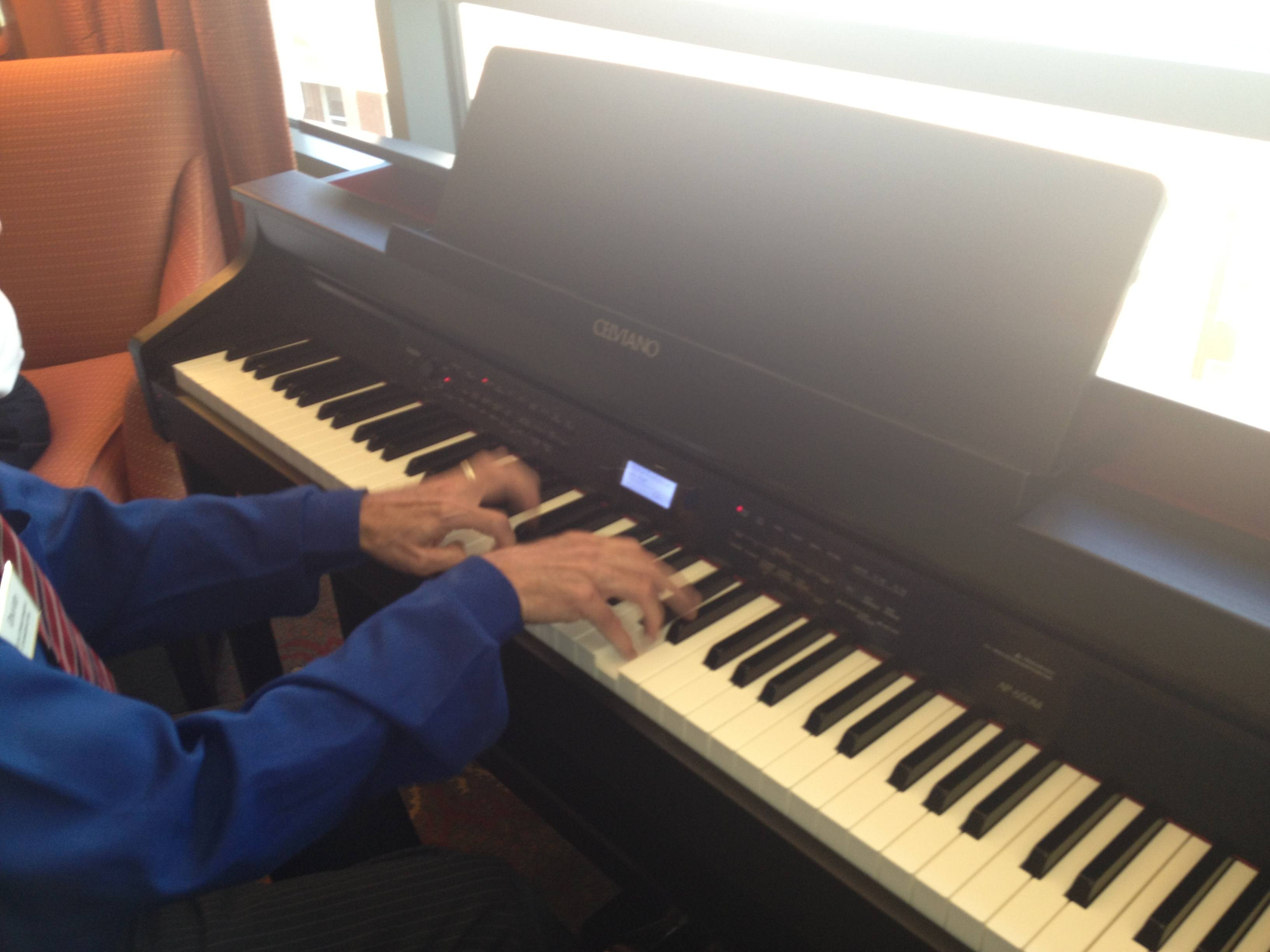 The Clare Charitable Foundation provides a piano for residents