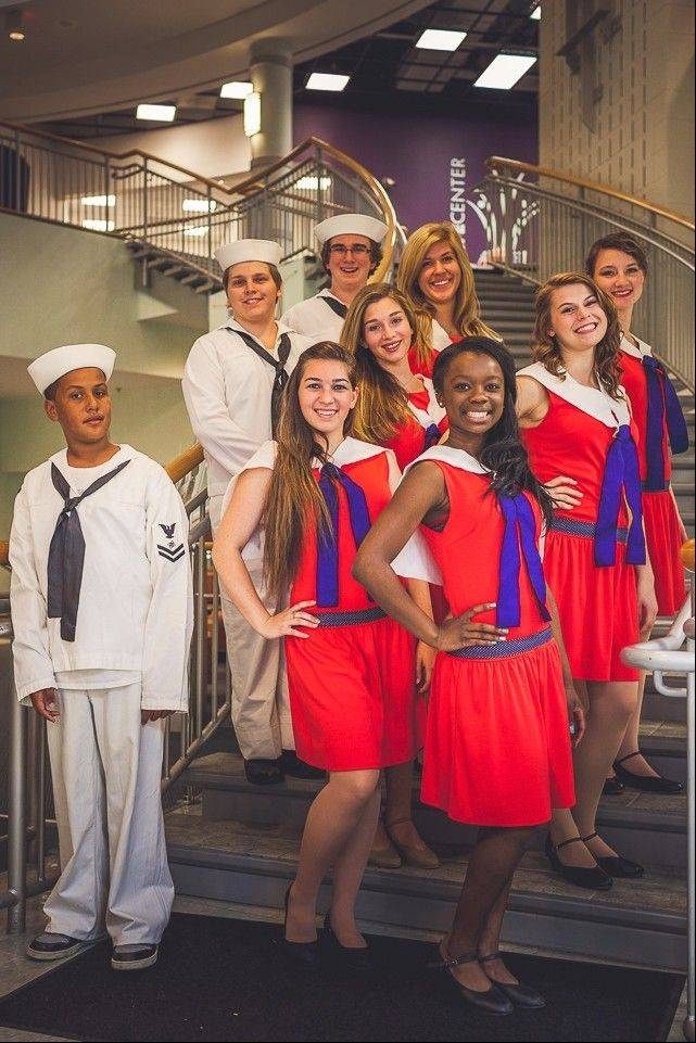Sailors and angels include, from left in the front row, Jared Brown, Denise Rager and Alisha Jury; second row: Brandon Fricke, Analiesse Albergo and Maegan Daniels; third row: Michael Kelley, Laney Haupert and Rebecca Sweeney.