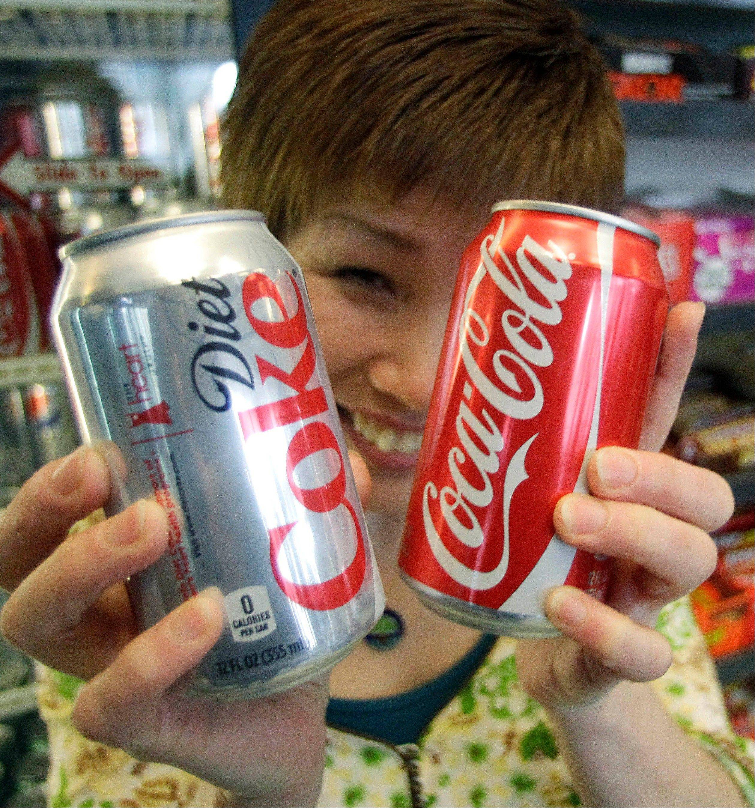 Diet Coke is �under a bit of pressure� because of people�s growing wariness of artificial sweeteners.