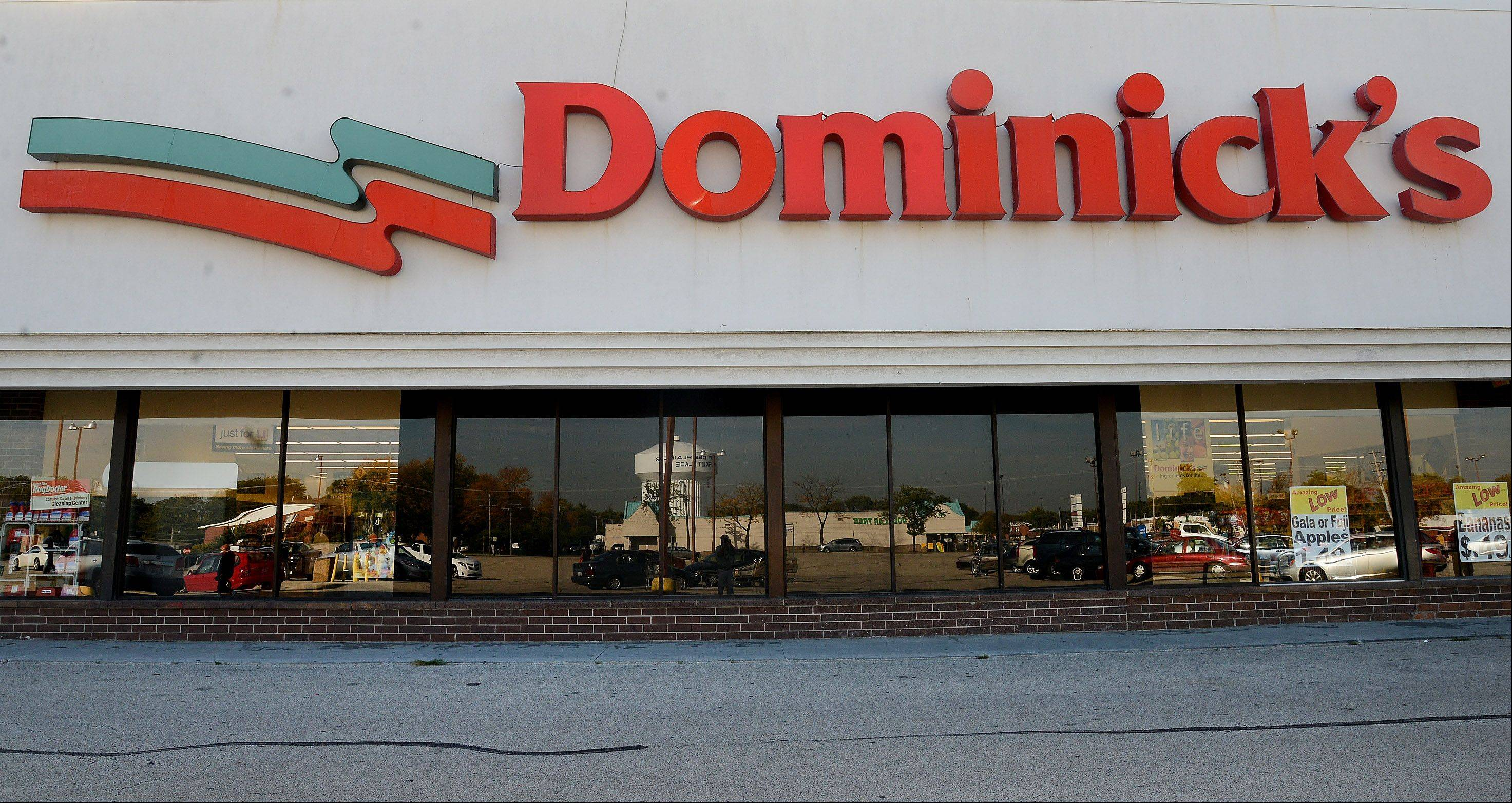 The Dominick�s store at Golf and Elmhurst Roads in Mount Prospect.