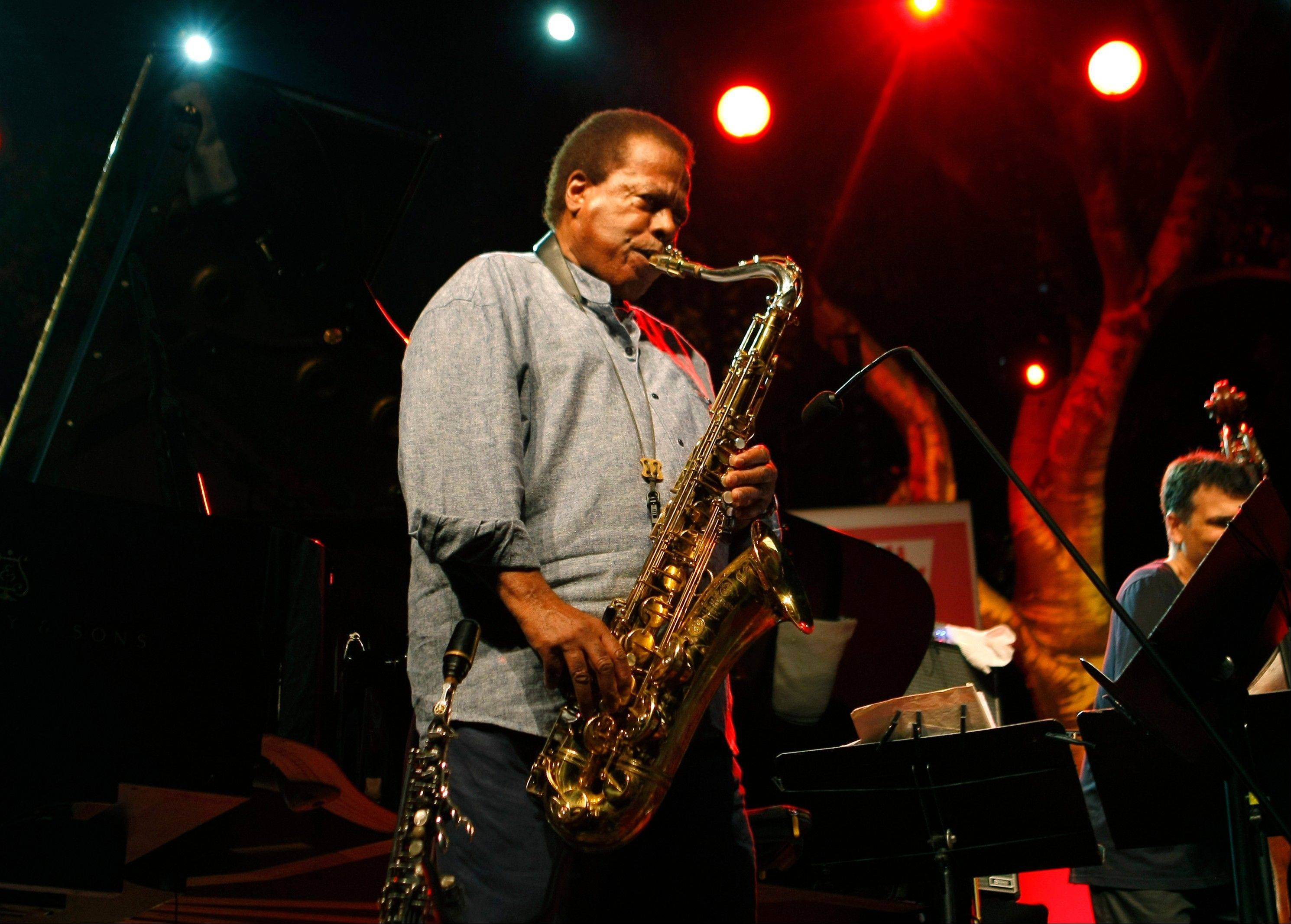 Jazz saxophonist Wayne Shorter performing at the 5 Continents Jazz Festival, in Marseille, France. Shorter, who turned 80 recently is still going strong.