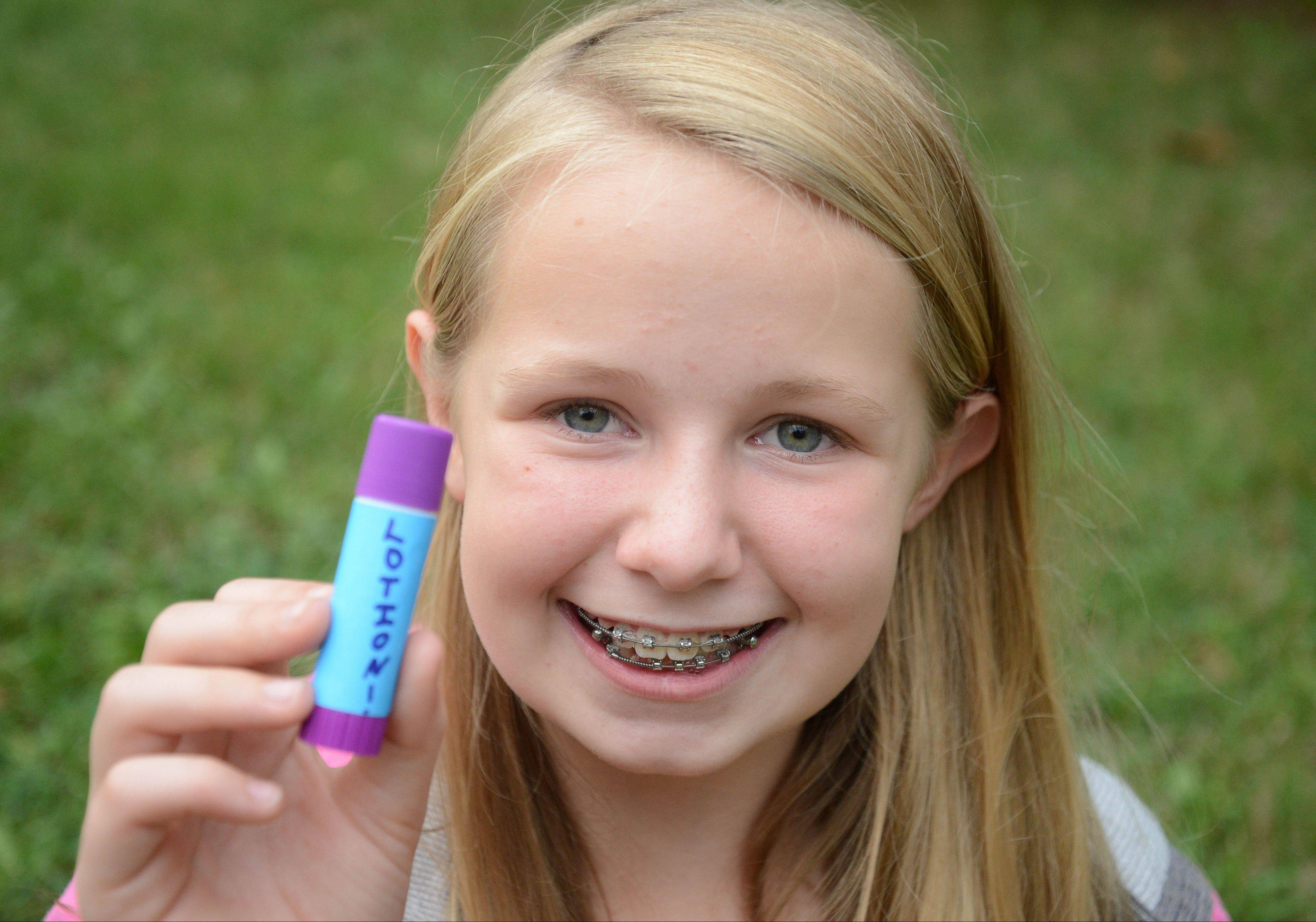 Cat Bradley, a sixth-grader at Jefferson Junior High in Naperville, hopes to develop her idea for a lotion stick into a business as she participates in the Young Entrepreneurs Academy offered for the first time through the Naperville Area Chamber of Commerce.