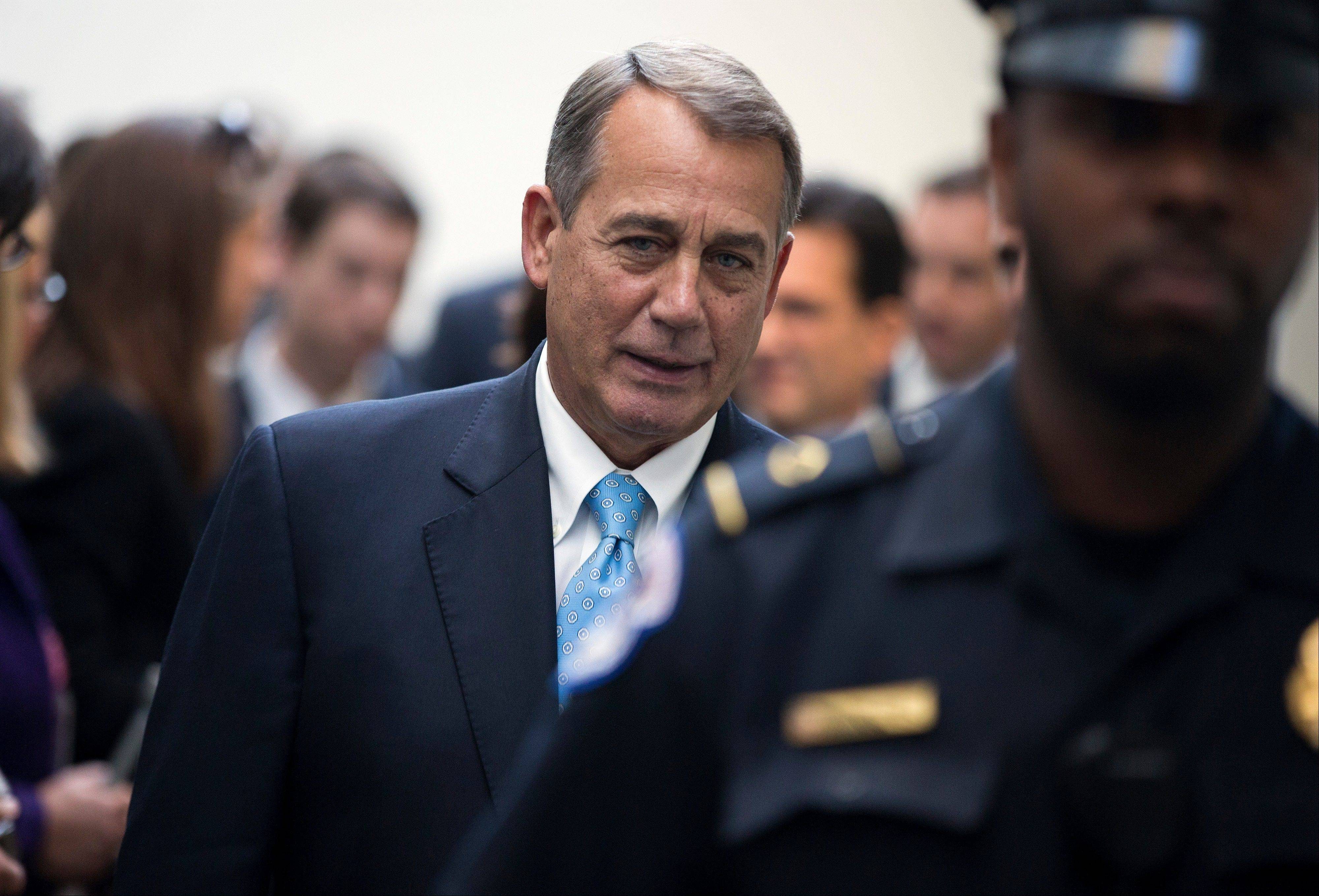 Speaker of the House Rep. John Boehner and other House GOP leaders Tuesday floated a plan to fellow Republicans to counter an emerging Senate deal to reopen the government and forestall an economy-rattling default on U.S. obligations. But the plan got mixed reviews from the rank and file, and it was not clear whether it could pass the chamber.