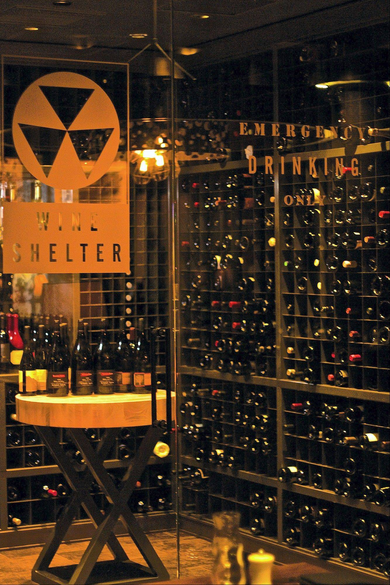 The temperature in the glass-enclosed wine cellar at Public House in Las Vegas holds at 55 degrees for the proper aging of the wines.