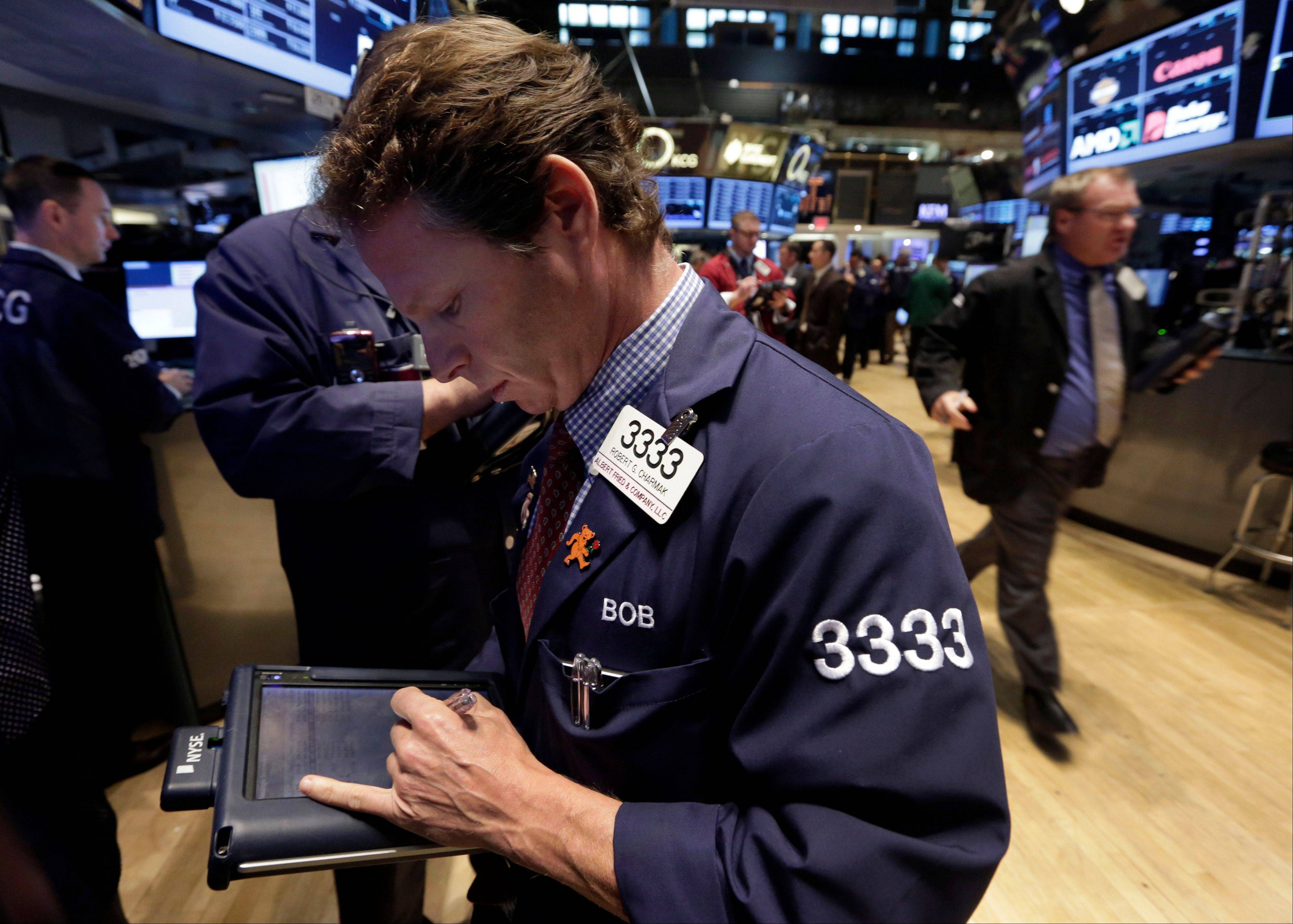 U.S. stocks rallied, sending the Standard & Poor�s 500 Index toward a record, as the Senate crafted a deal to end the government shutdown and raise the debt ceiling before tomorrow�s deadline.