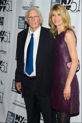 "Bruce Dern and Laura Dern attend the New York Film Festival screening of ""Nebraska."" The Chicago International Film Festival is honoring actor Bruce Dern with its Career Achievement Award this year."