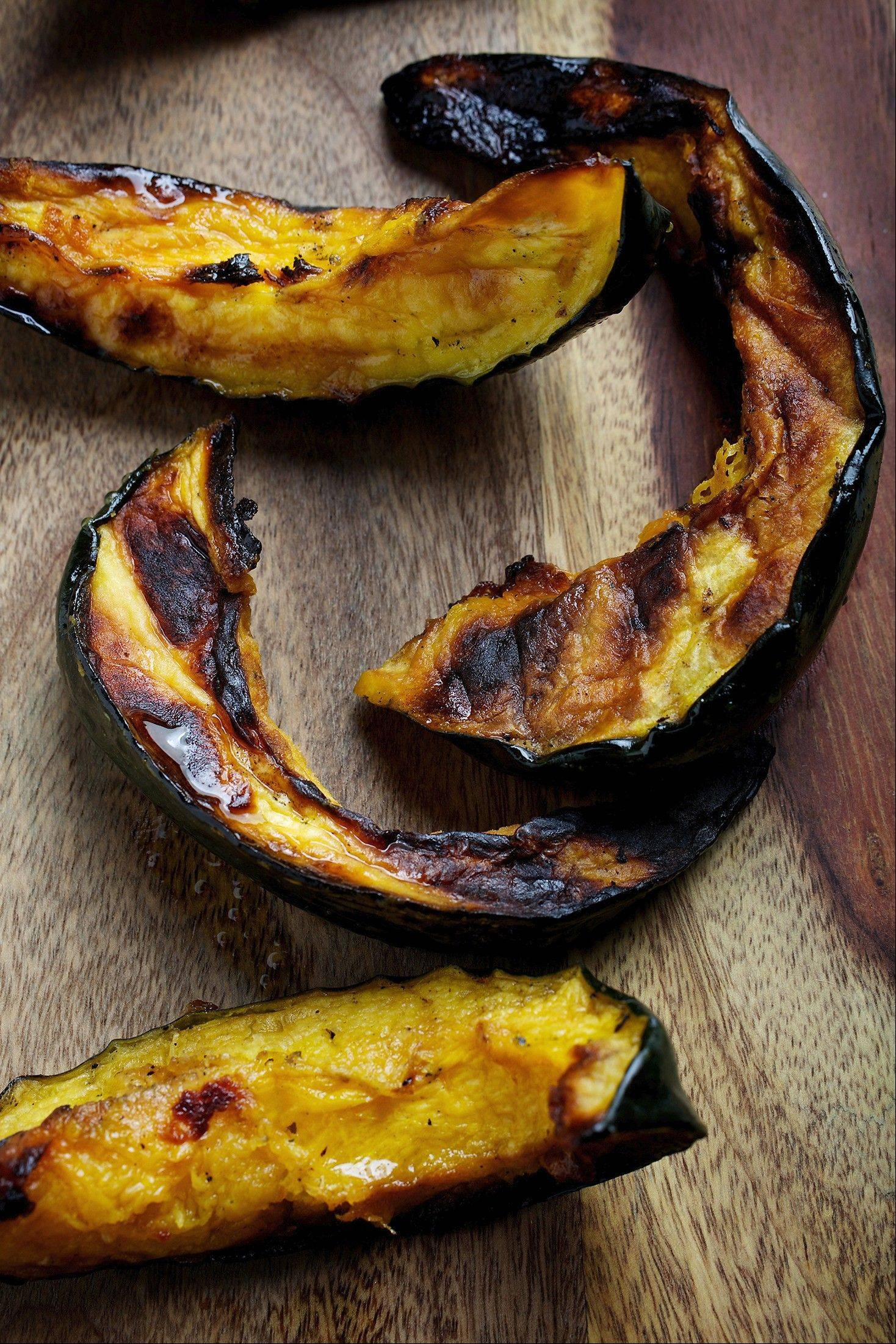 Grilled Acorn Squash Wedges